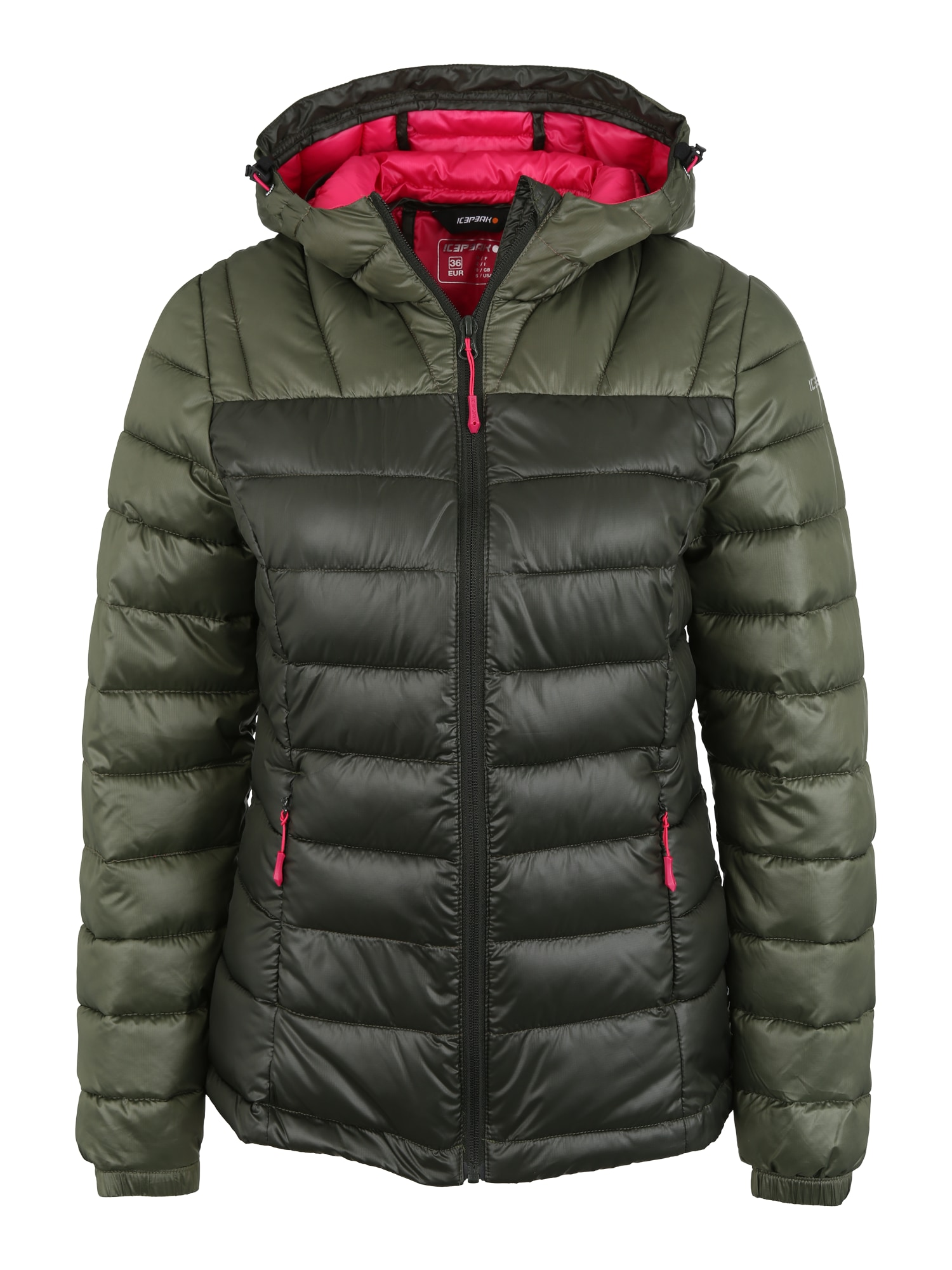 Outdoorová bunda Layan khaki černá ICEPEAK