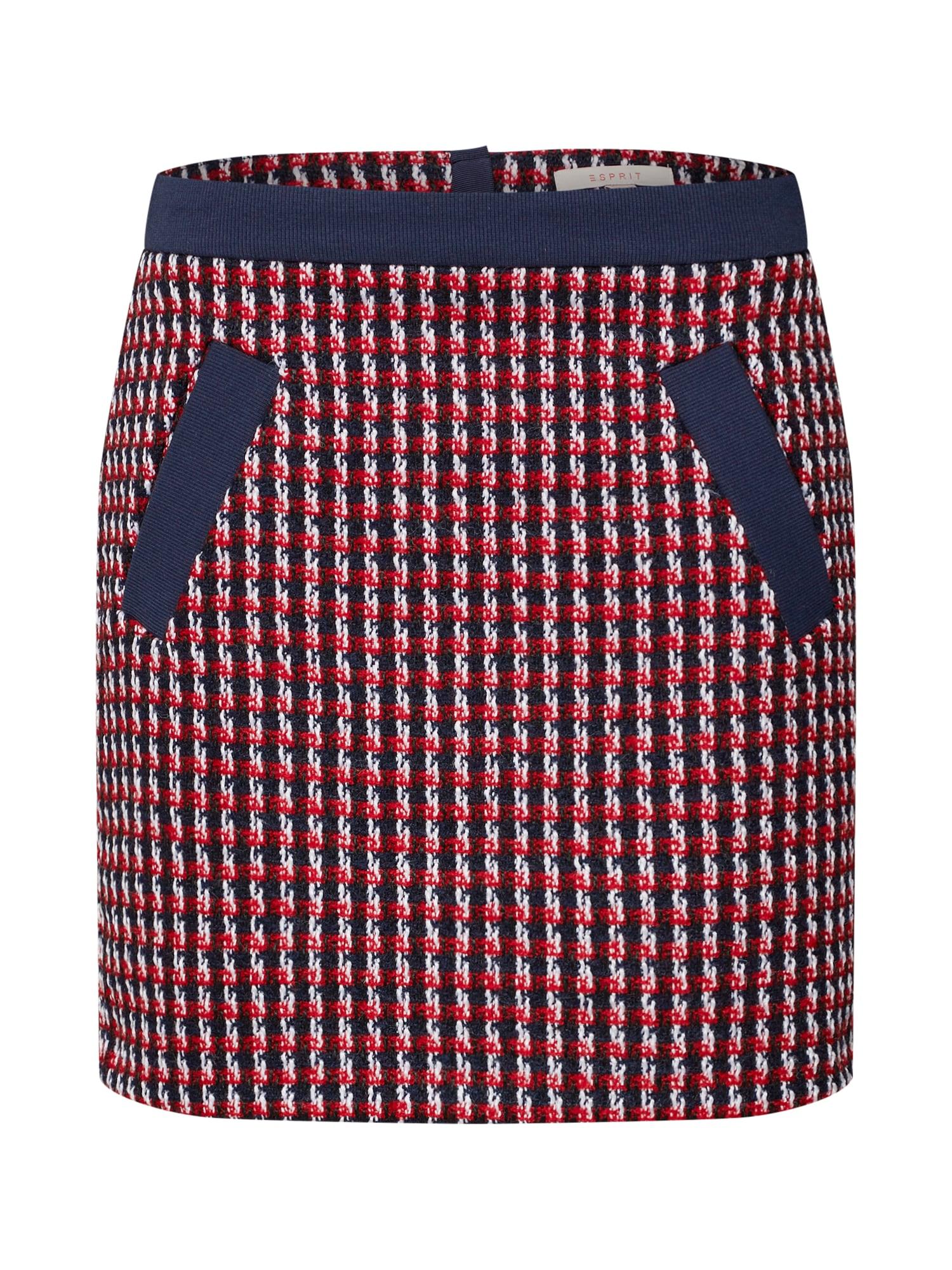 Sukně woven námořnická modř červená ESPRIT