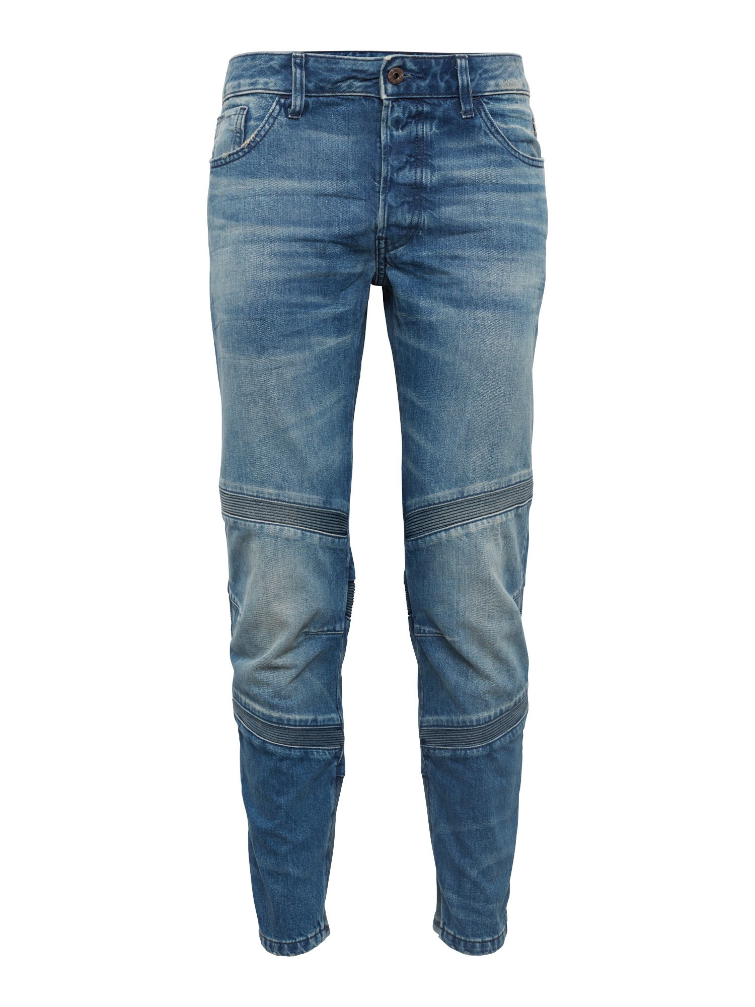 G-STAR RAW Heren Jeans Motac Deconstructed 3D Slim Cropped blue denim