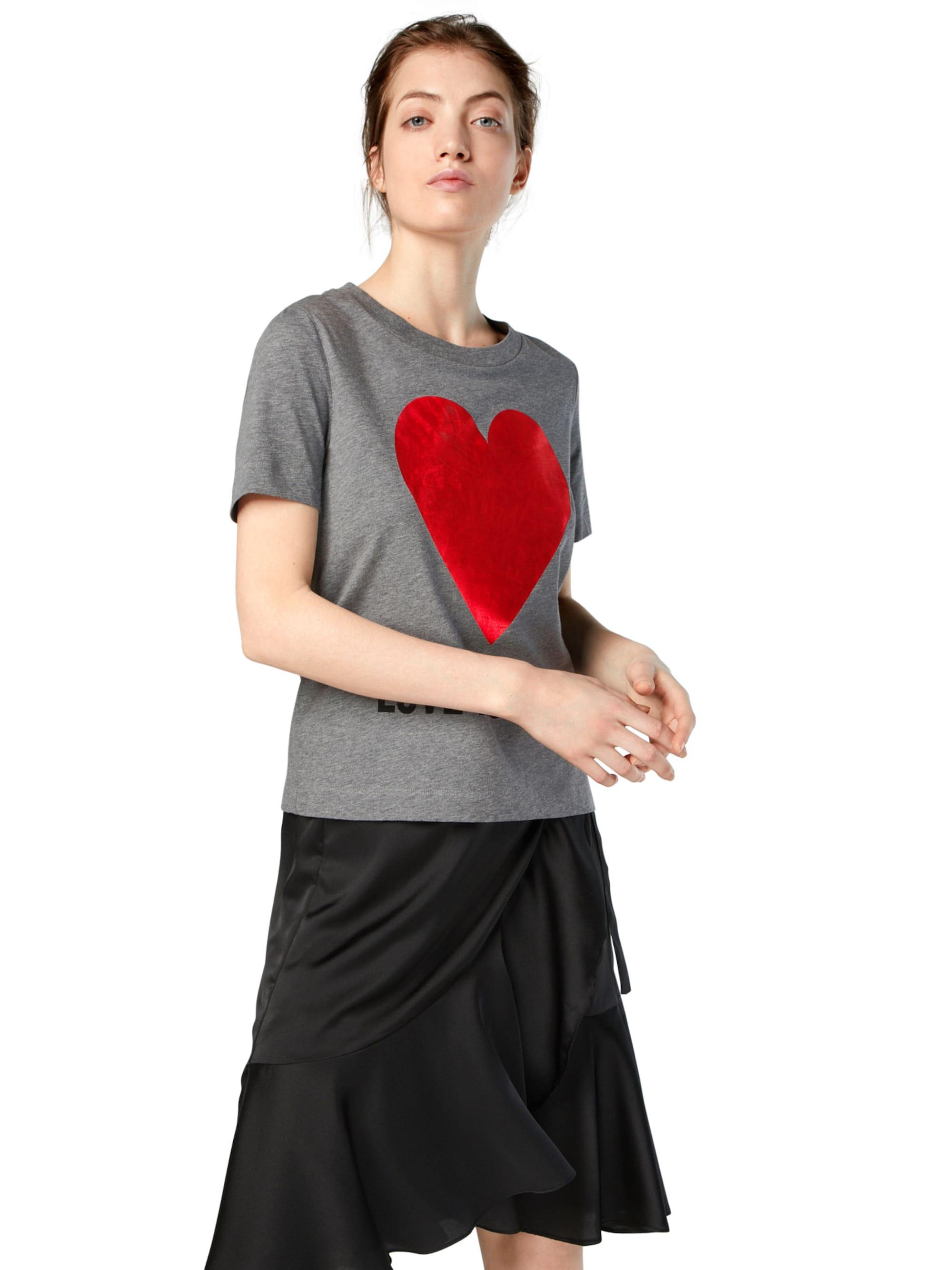 Love Moschino Koszulka  szary / czerwony
