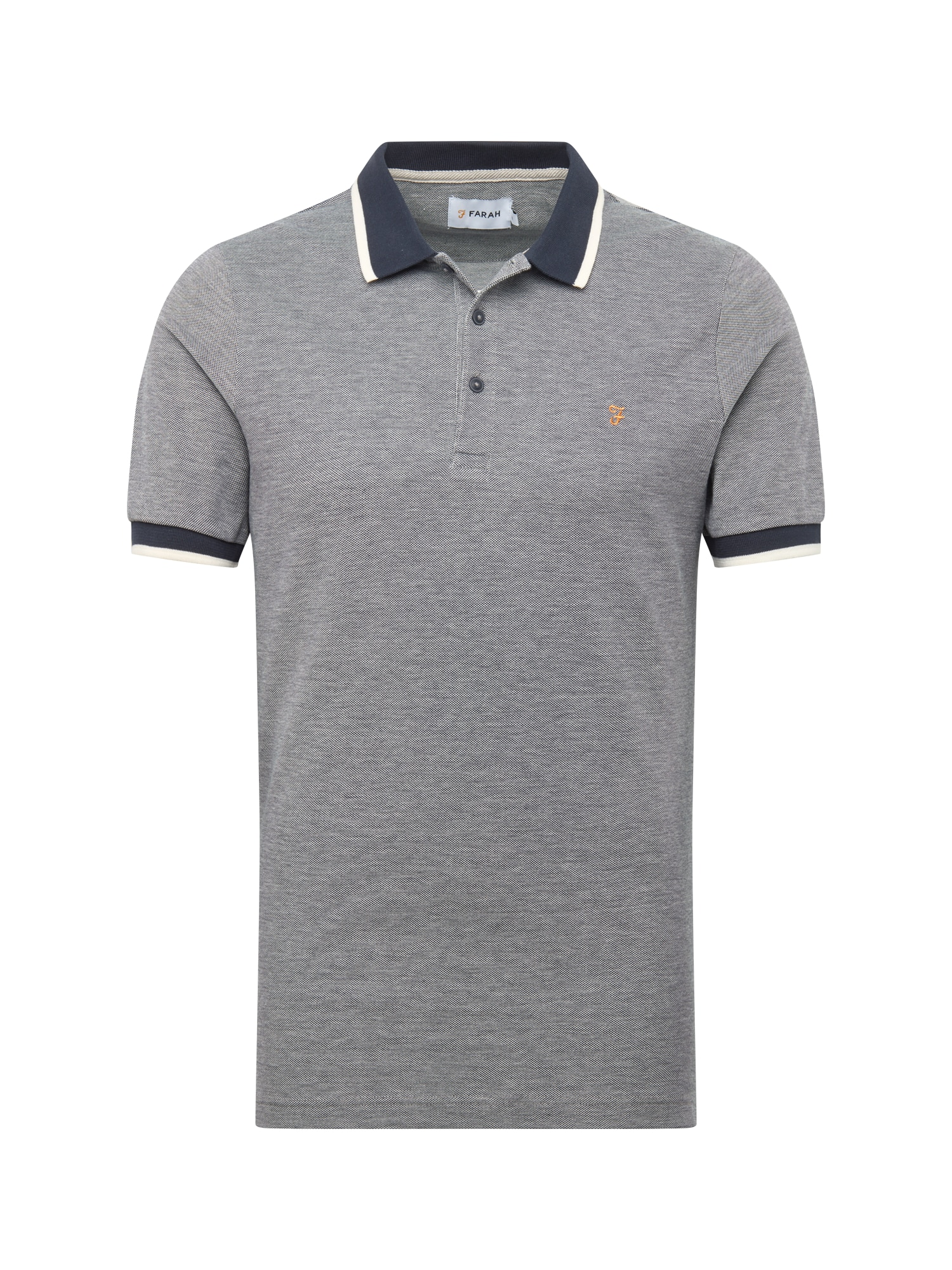 Tričko BASEL PIQUE námořnická modř šedá FARAH