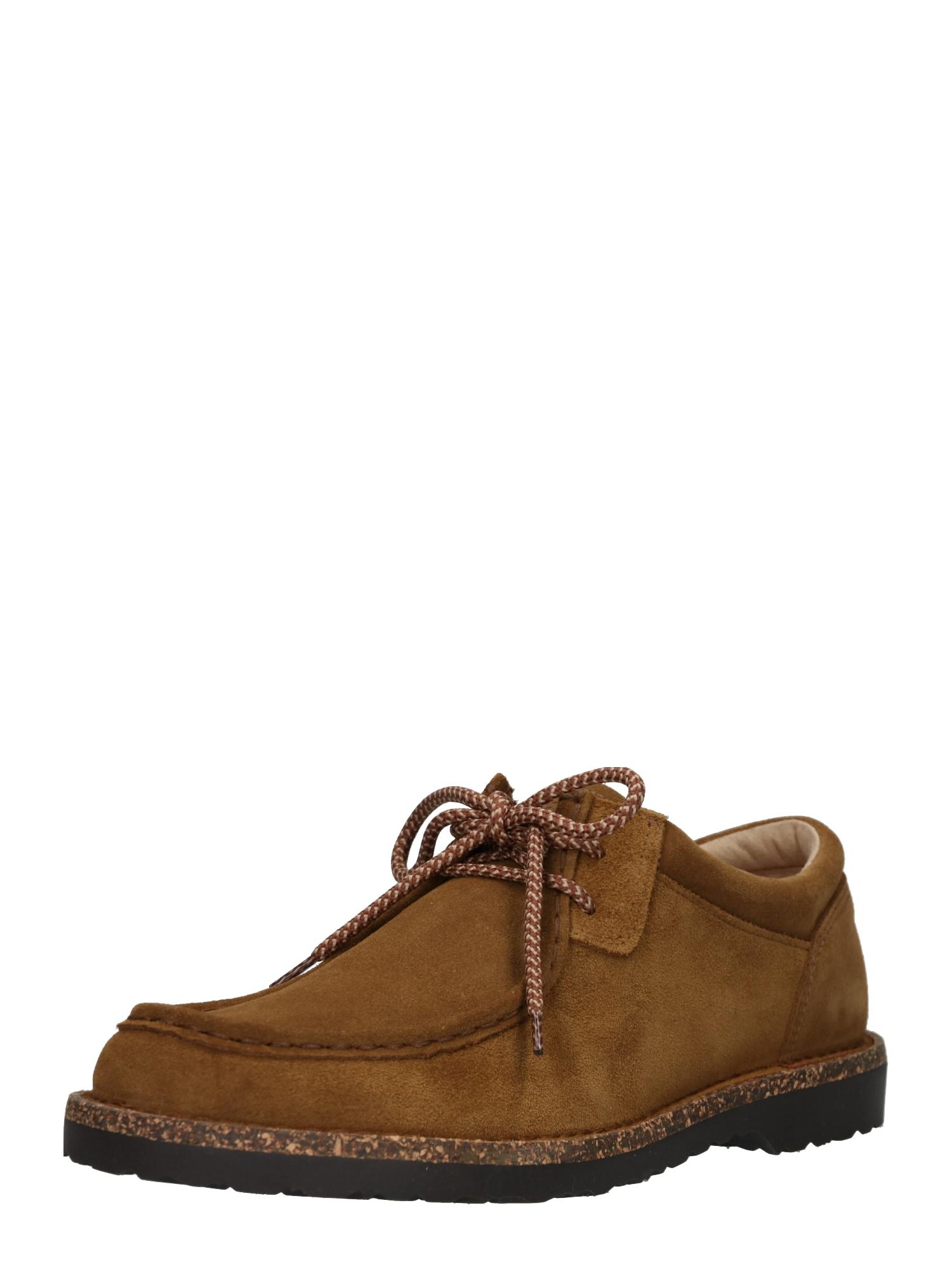 Šněrovací boty Pasadena Ace Walk koňaková černá BIRKENSTOCK