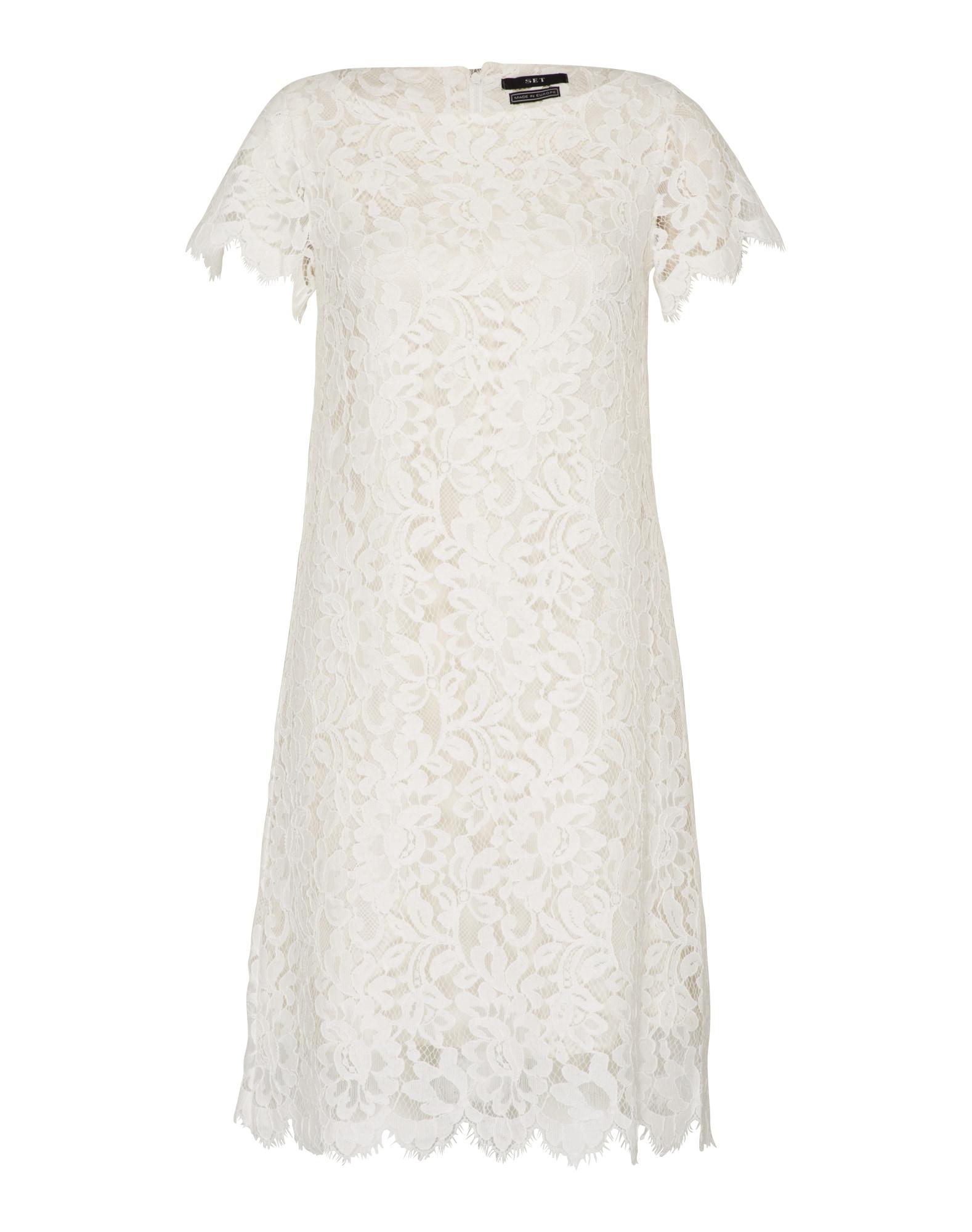 Koktejlové šaty bílá SET