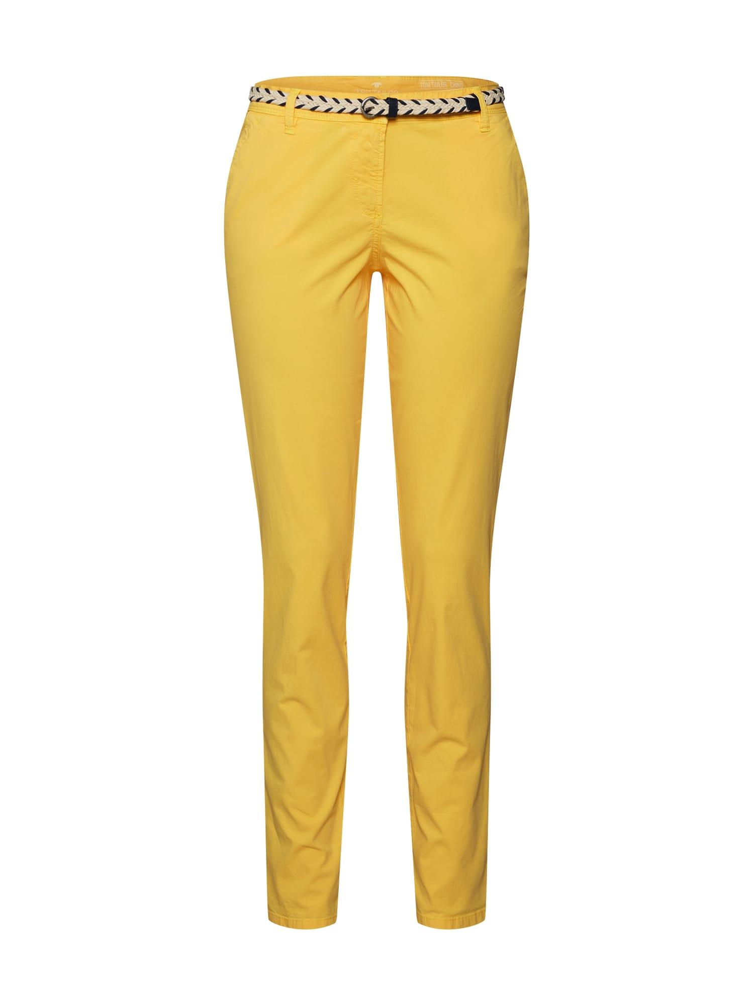 Chino kalhoty žlutá TOM TAILOR