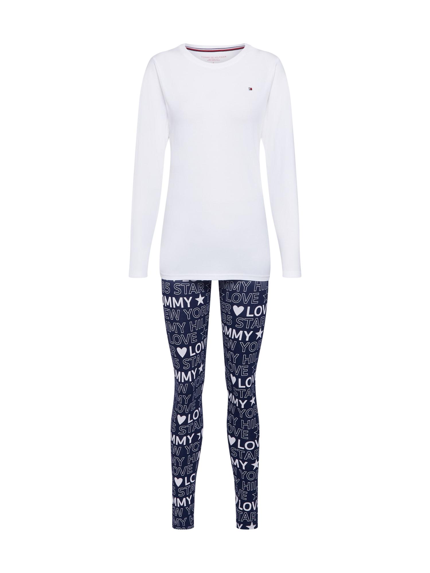 Tommy Hilfiger Underwear Pyžamo  tmavě modrá / bílá