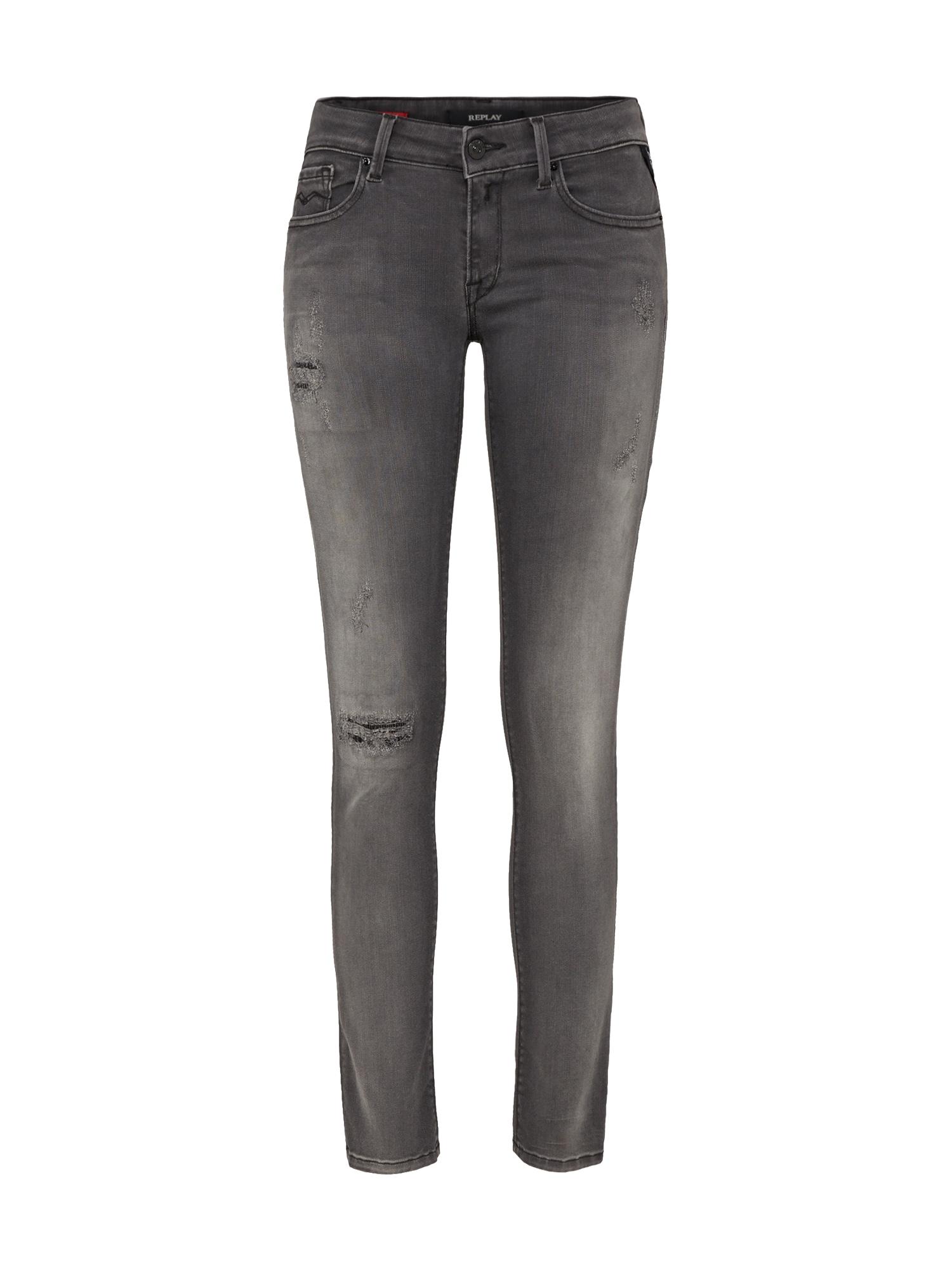 REPLAY Dames Jeans Luz antraciet