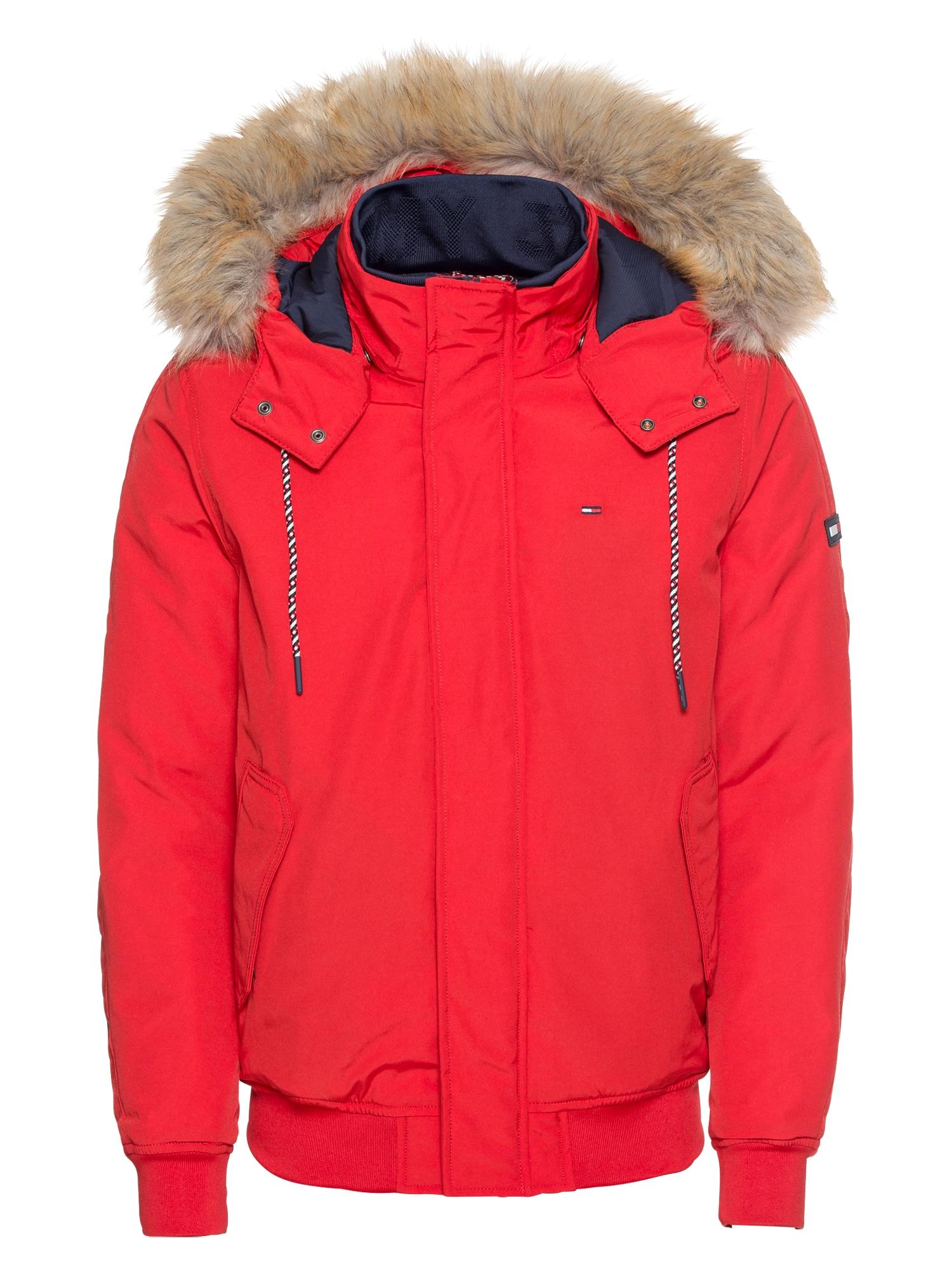 Zimní bunda TJM TECHNICAL BOMBER červená Tommy Jeans