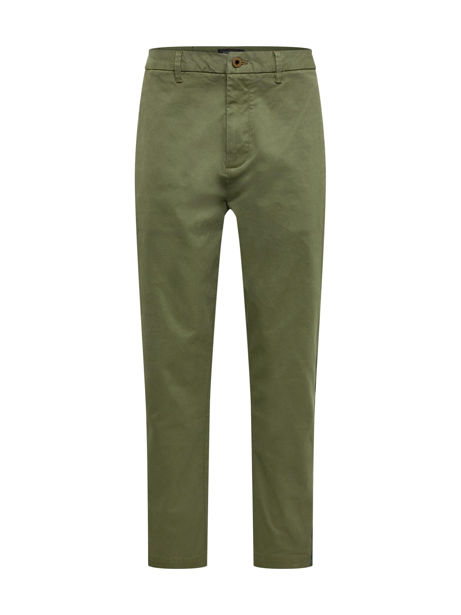 Chino kalhoty SEASONAL FIT- Twill chino with tonal printed side stripe khaki SCOTCH & SODA