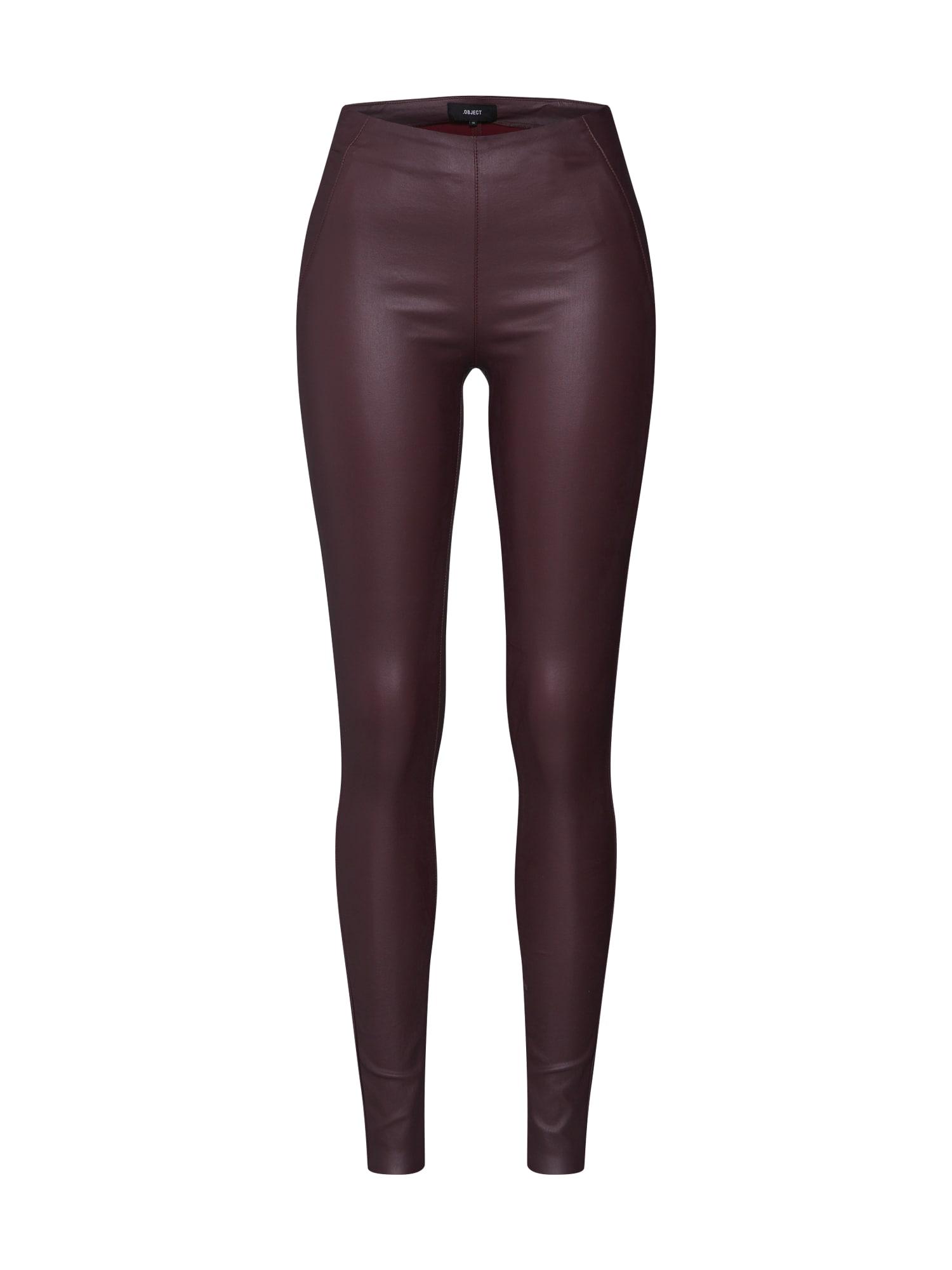 Kalhoty BELLE burgundská červeň OBJECT