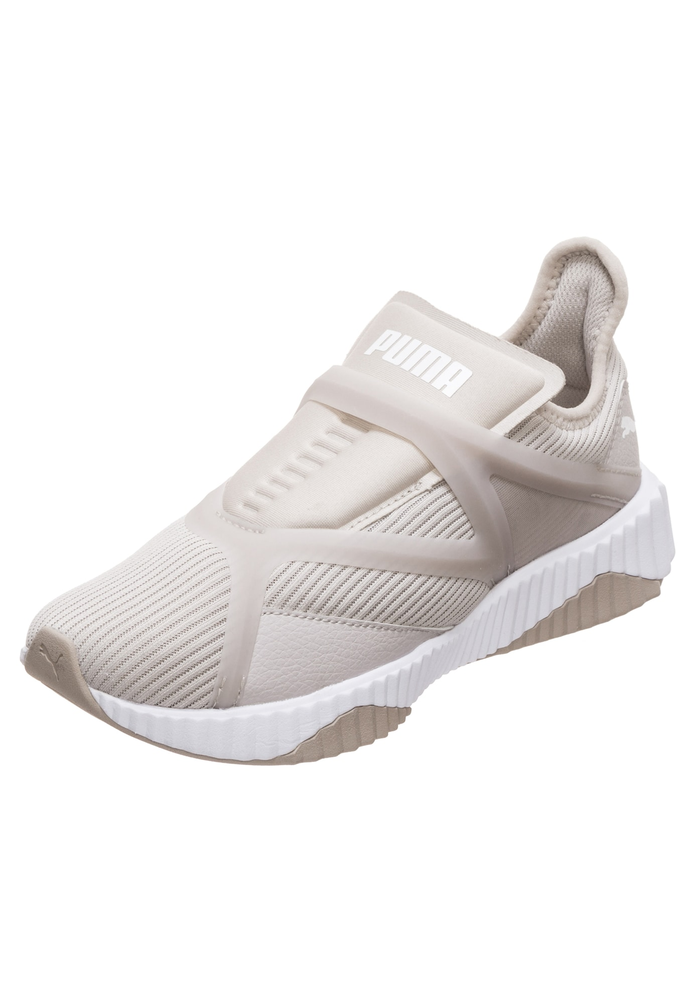 PUMA, Dames Sneakers laag 'Defy Cage', grijs / wit