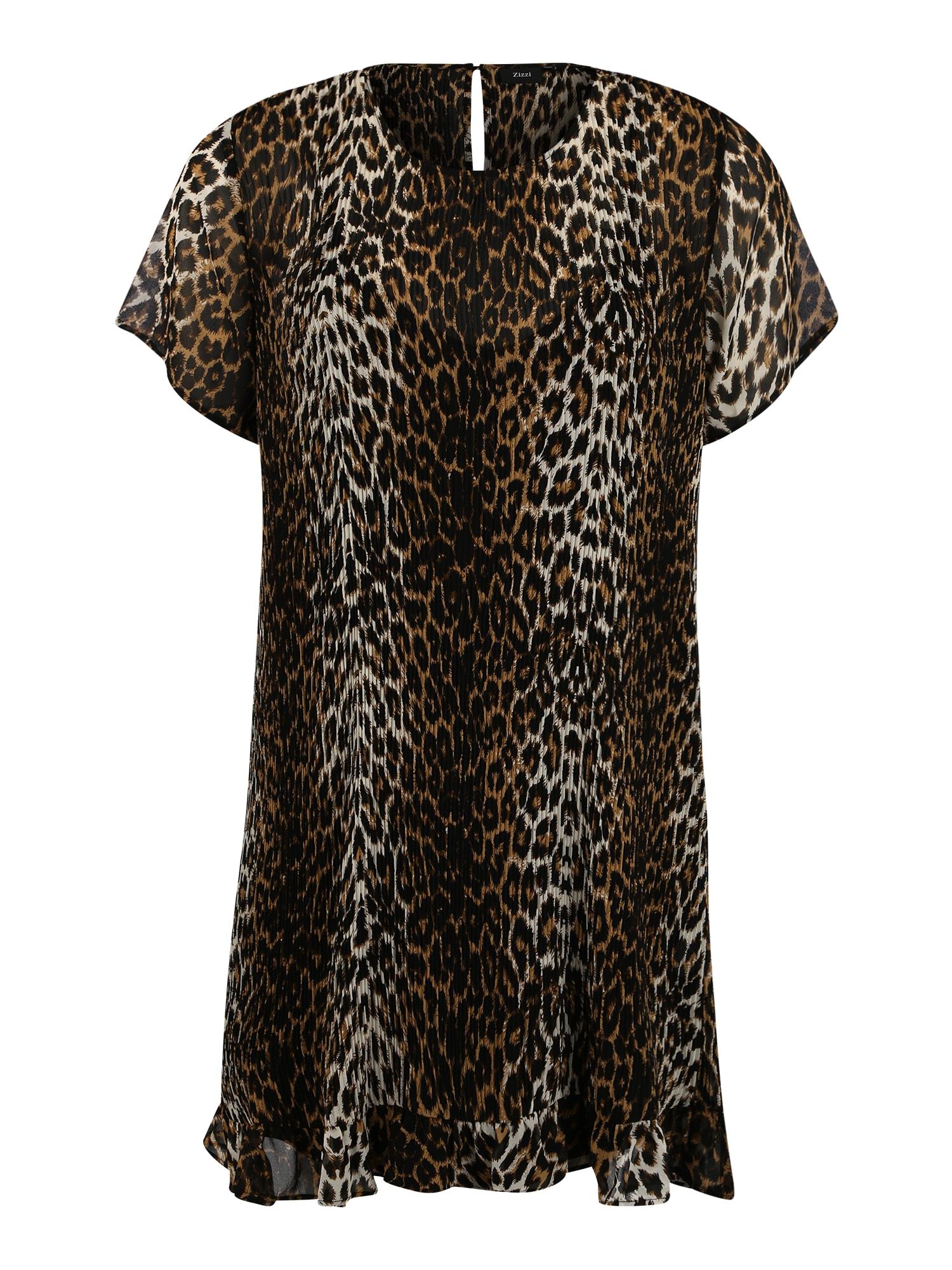 Letní šaty PERNILLE hnědá černá Zizzi