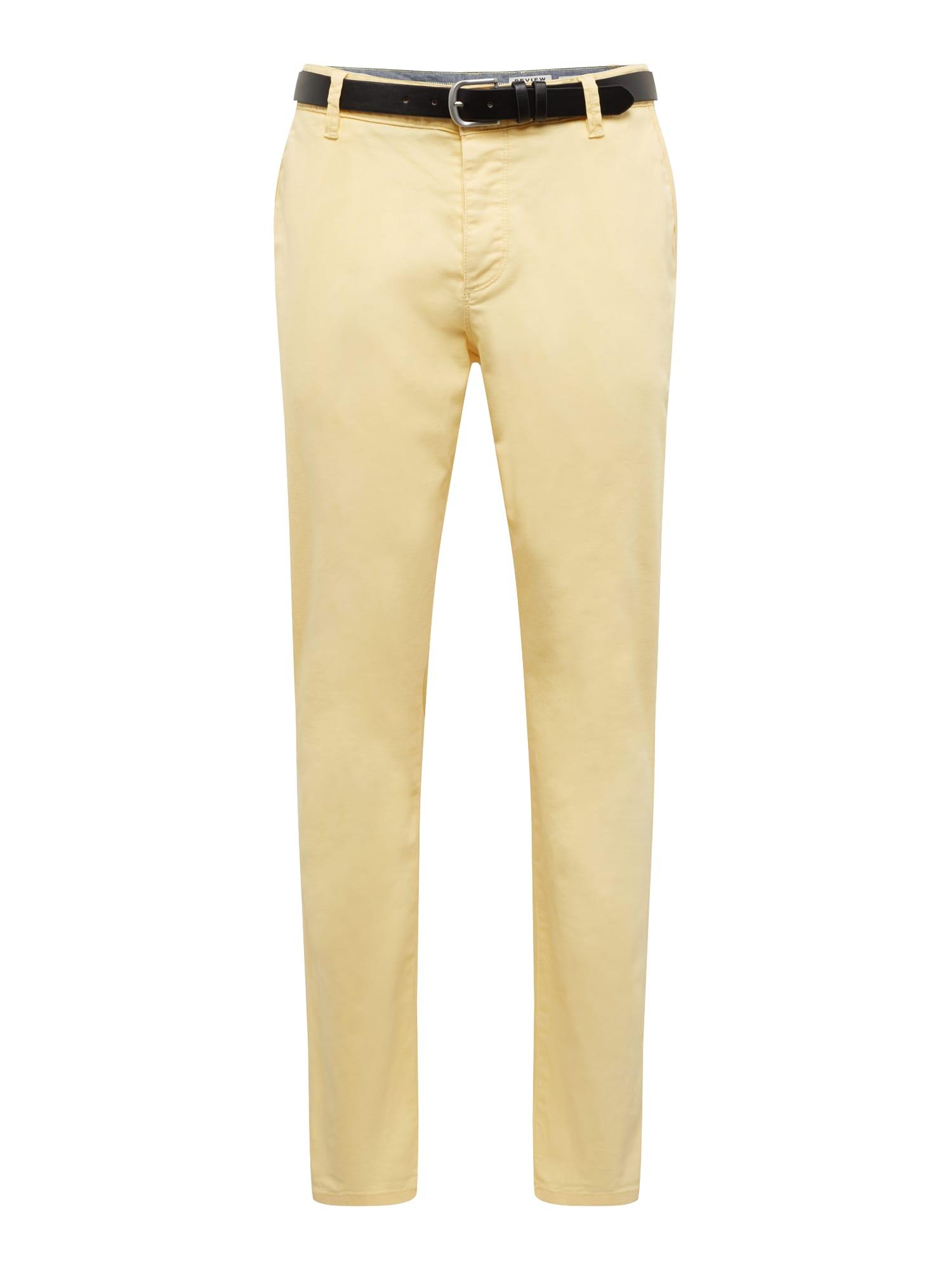 Chino kalhoty STR BELT žlutá Review