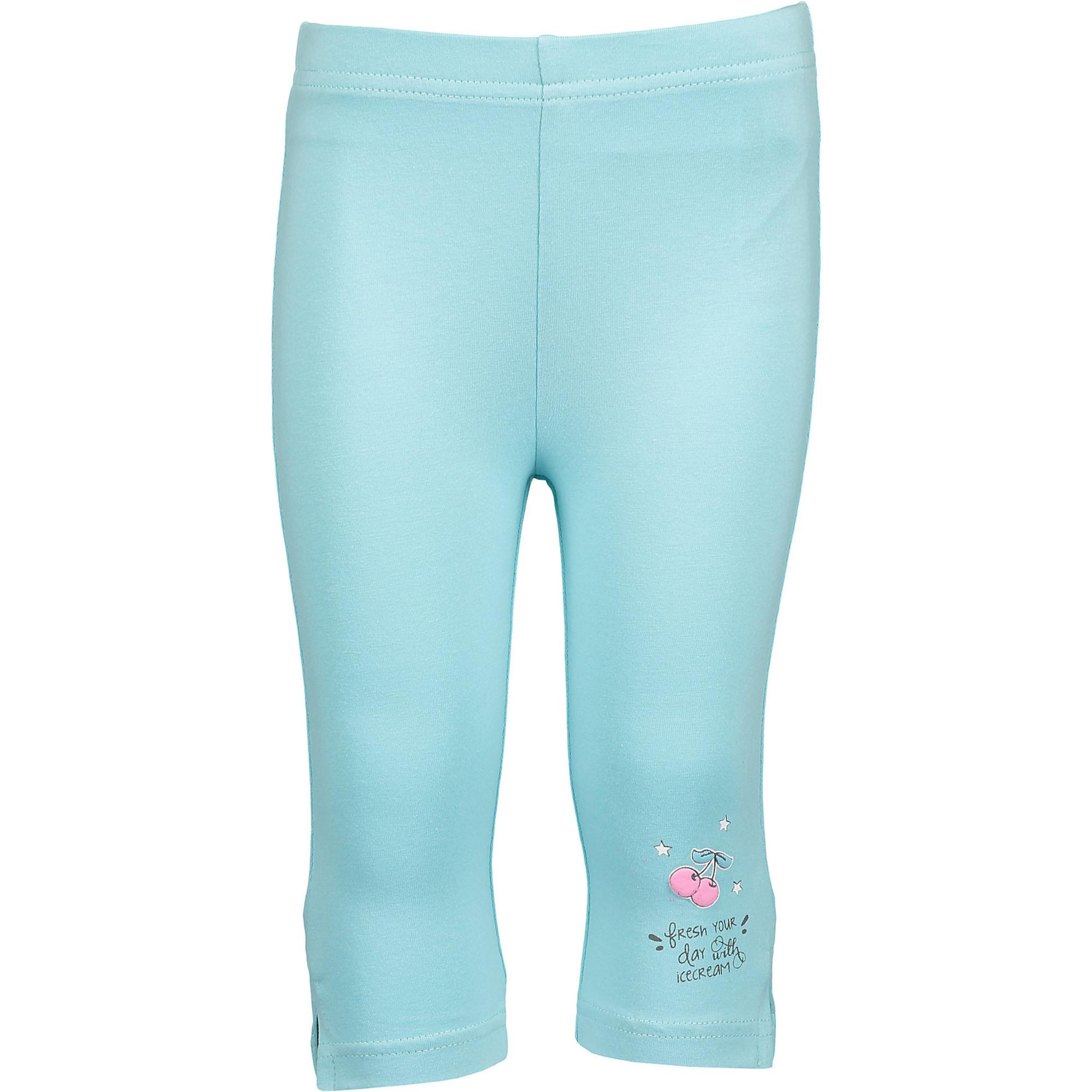 Kalhoty tyrkysová aqua modrá mix barev BLUE SEVEN