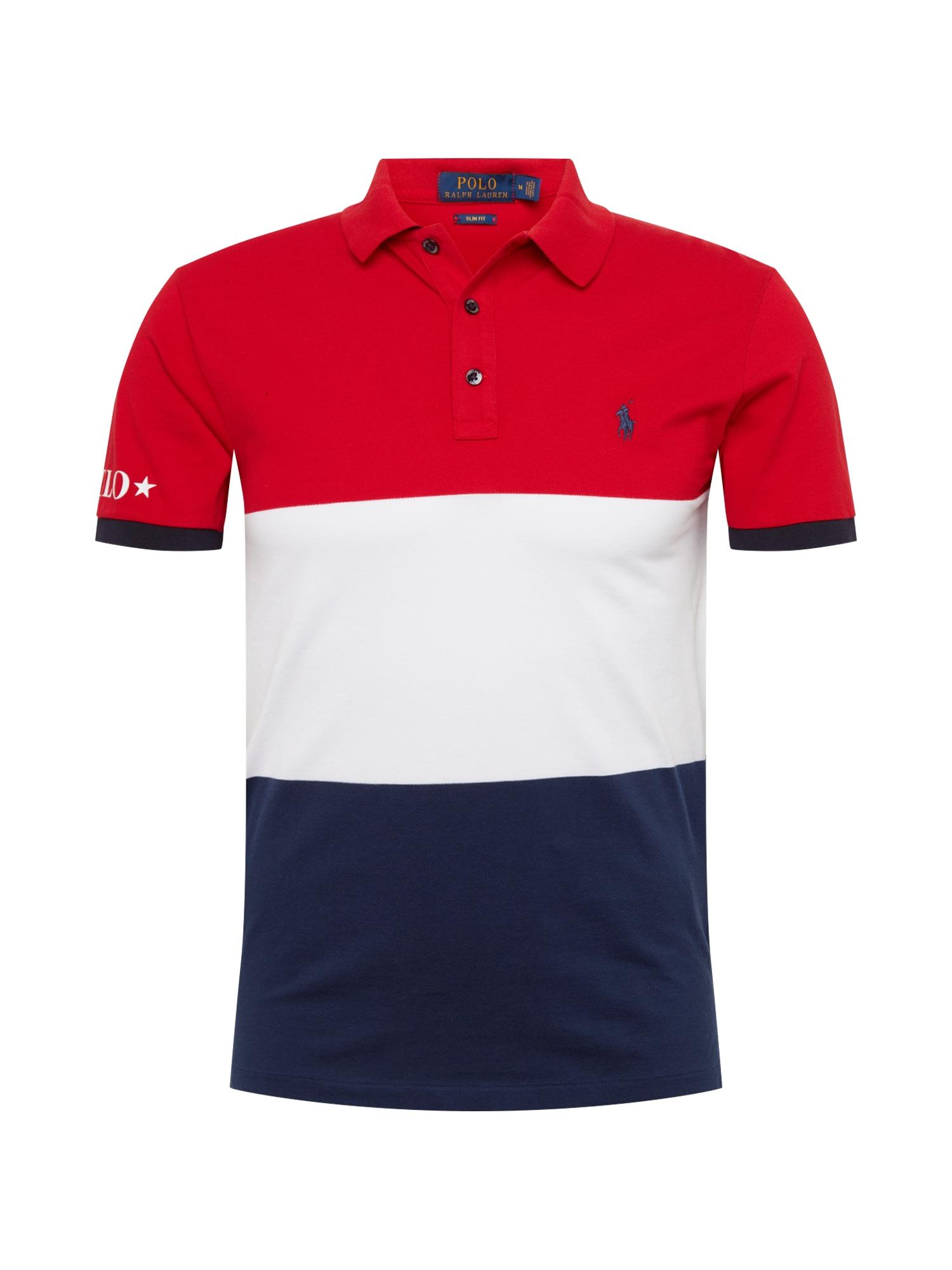 Tričko SSKCSLM2-SHORT SLEEVE-KNIT námořnická modř červená bílá POLO RALPH LAUREN
