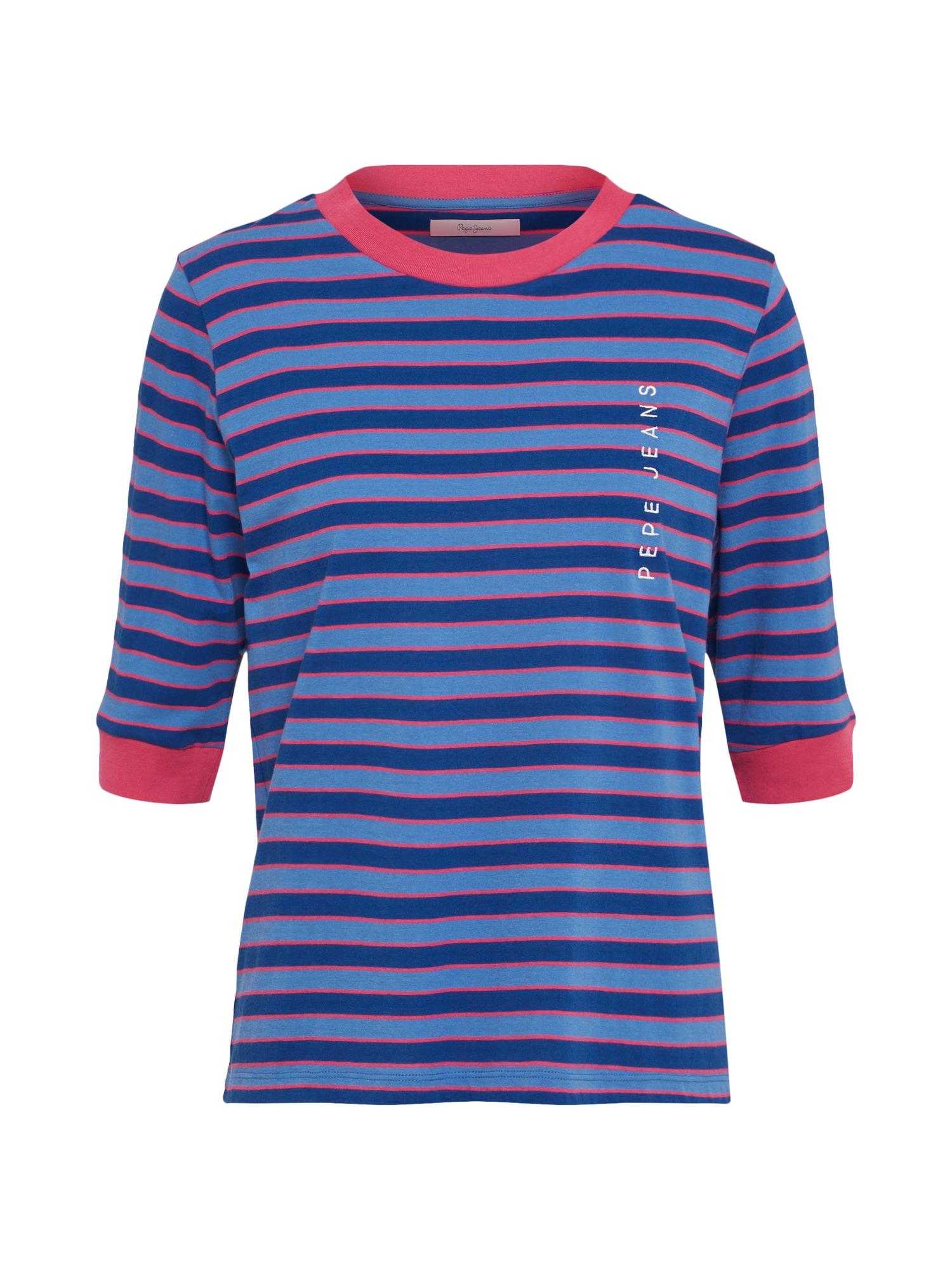 Tričko modrá kouřově modrá tmavě růžová Pepe Jeans