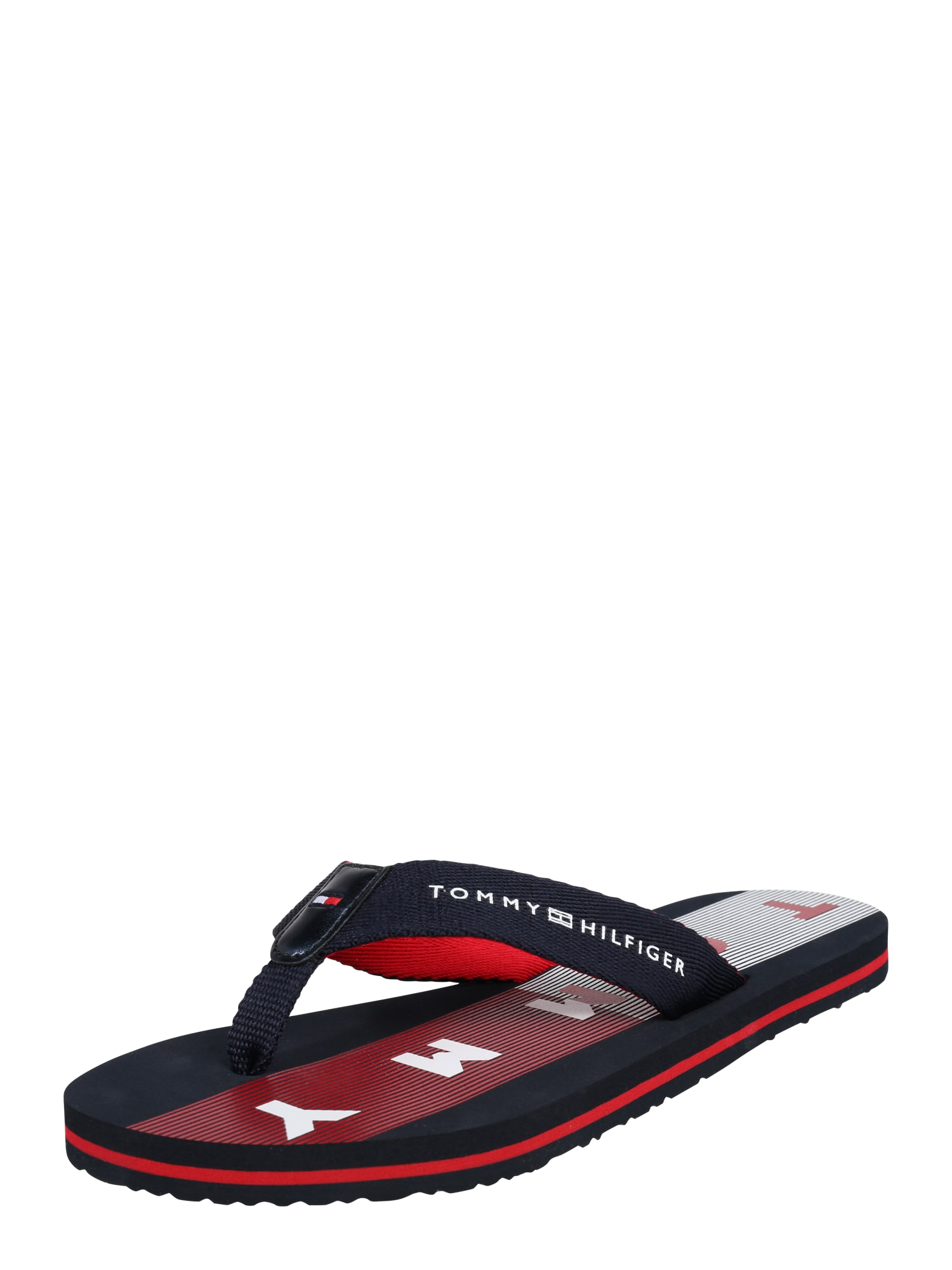 Pantofle modrá červená bílá TOMMY HILFIGER