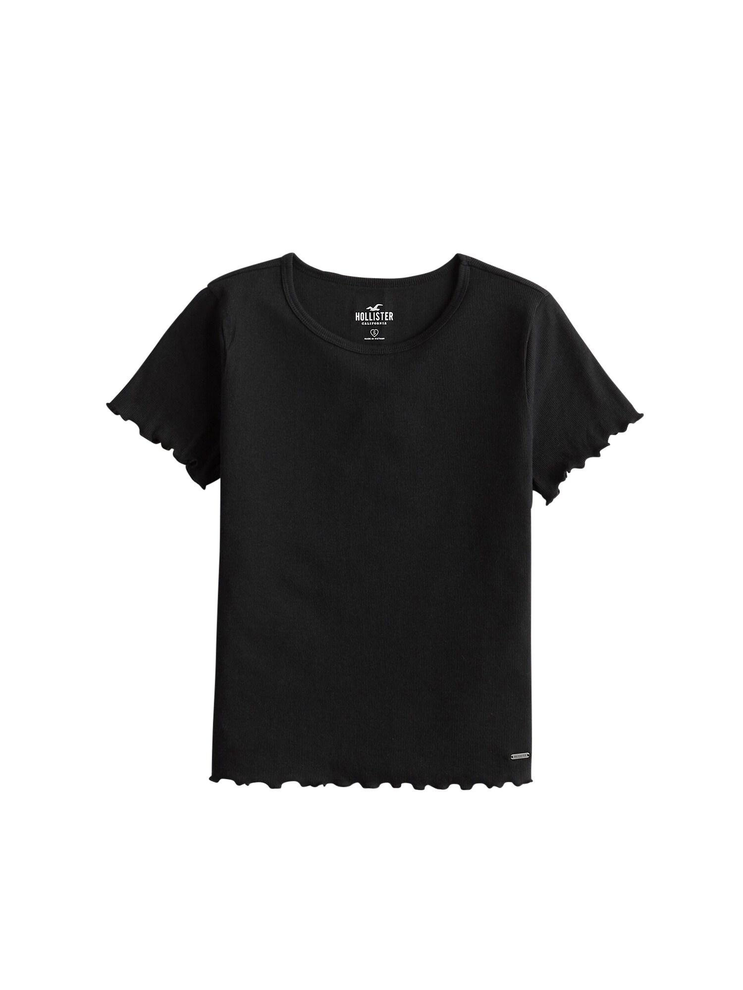 HOLLISTER Tričko 'LETTUCE BABY TEE'  černá