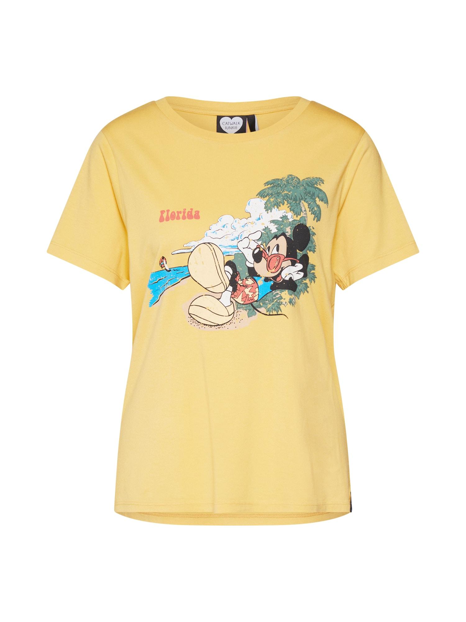 Tričko TS MICKEY FLORIDA žlutá mix barev CATWALK JUNKIE