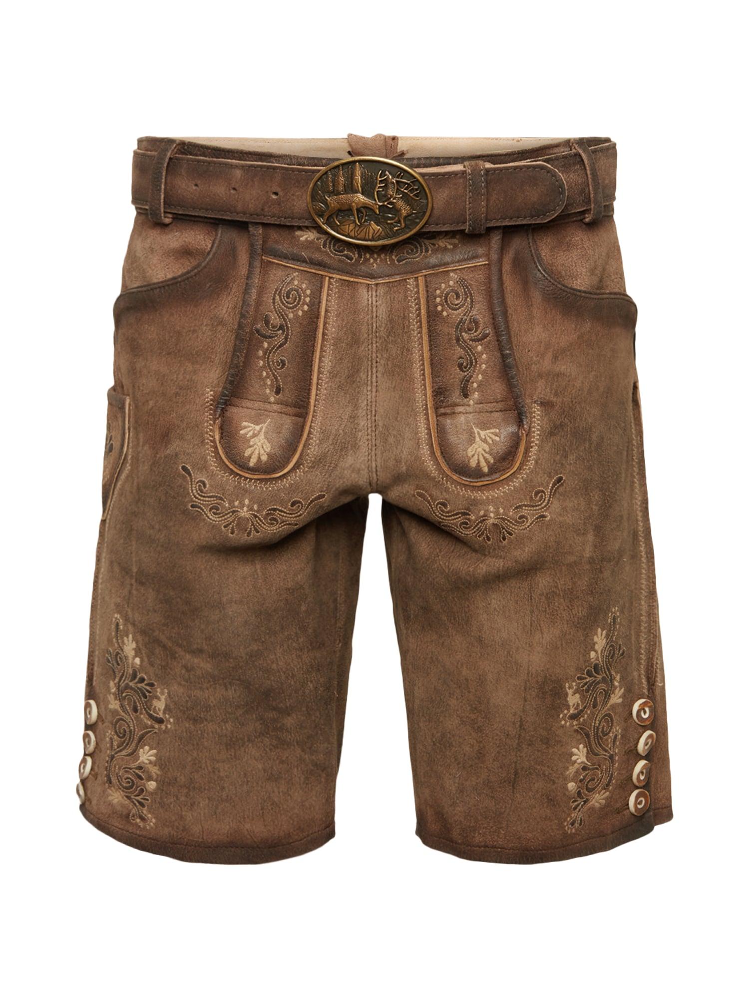 Krojové kalhoty hnědá MARJO