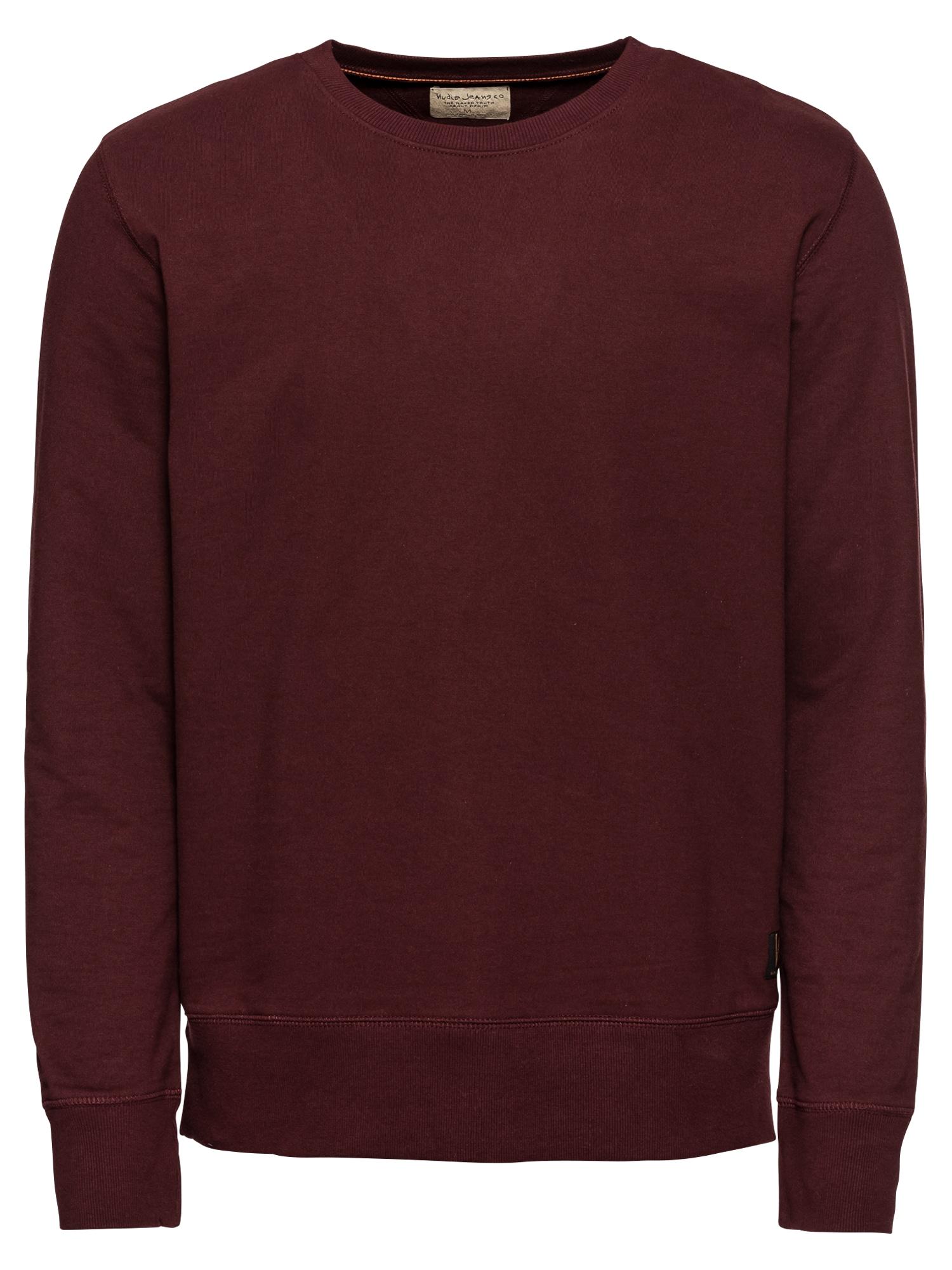 Mikina Evert Light Sweatshirt vínově červená Nudie Jeans Co