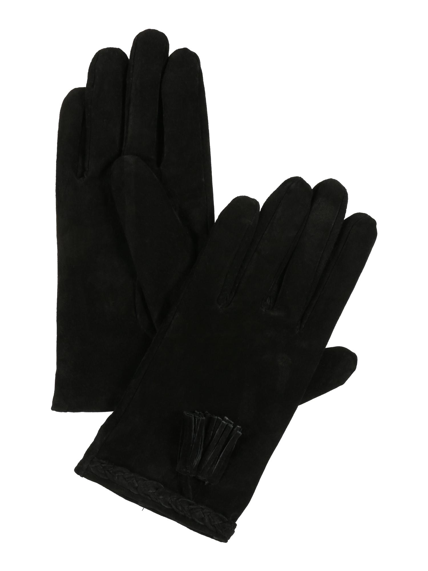 Prstové rukavice PCFRASSEL černá PIECES
