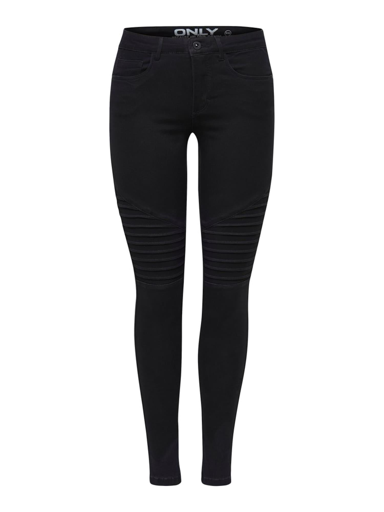 Kalhoty černá džínovina ONLY