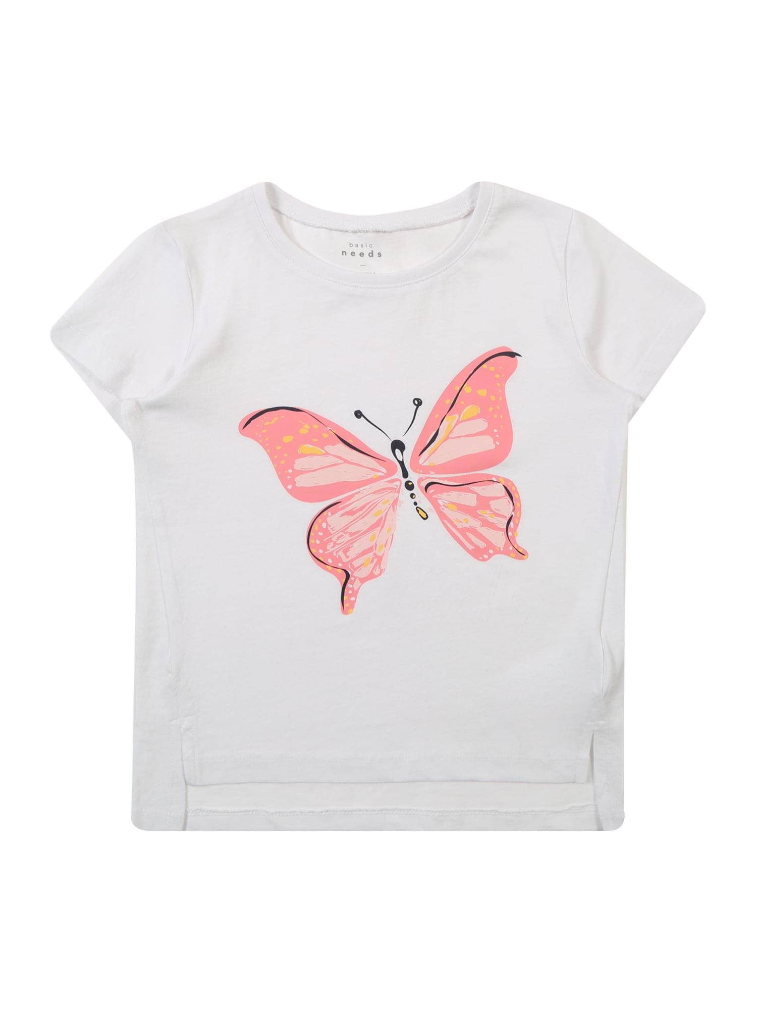 Tričko Via pink růžová bílá NAME IT