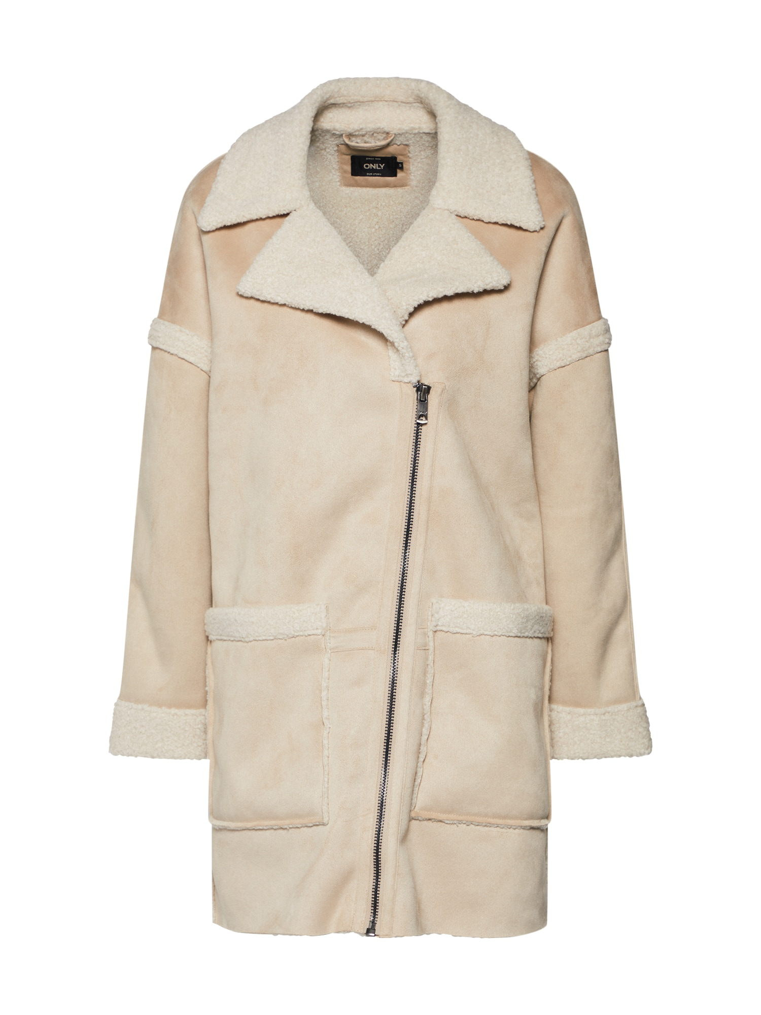 Zimní kabát béžová ONLY