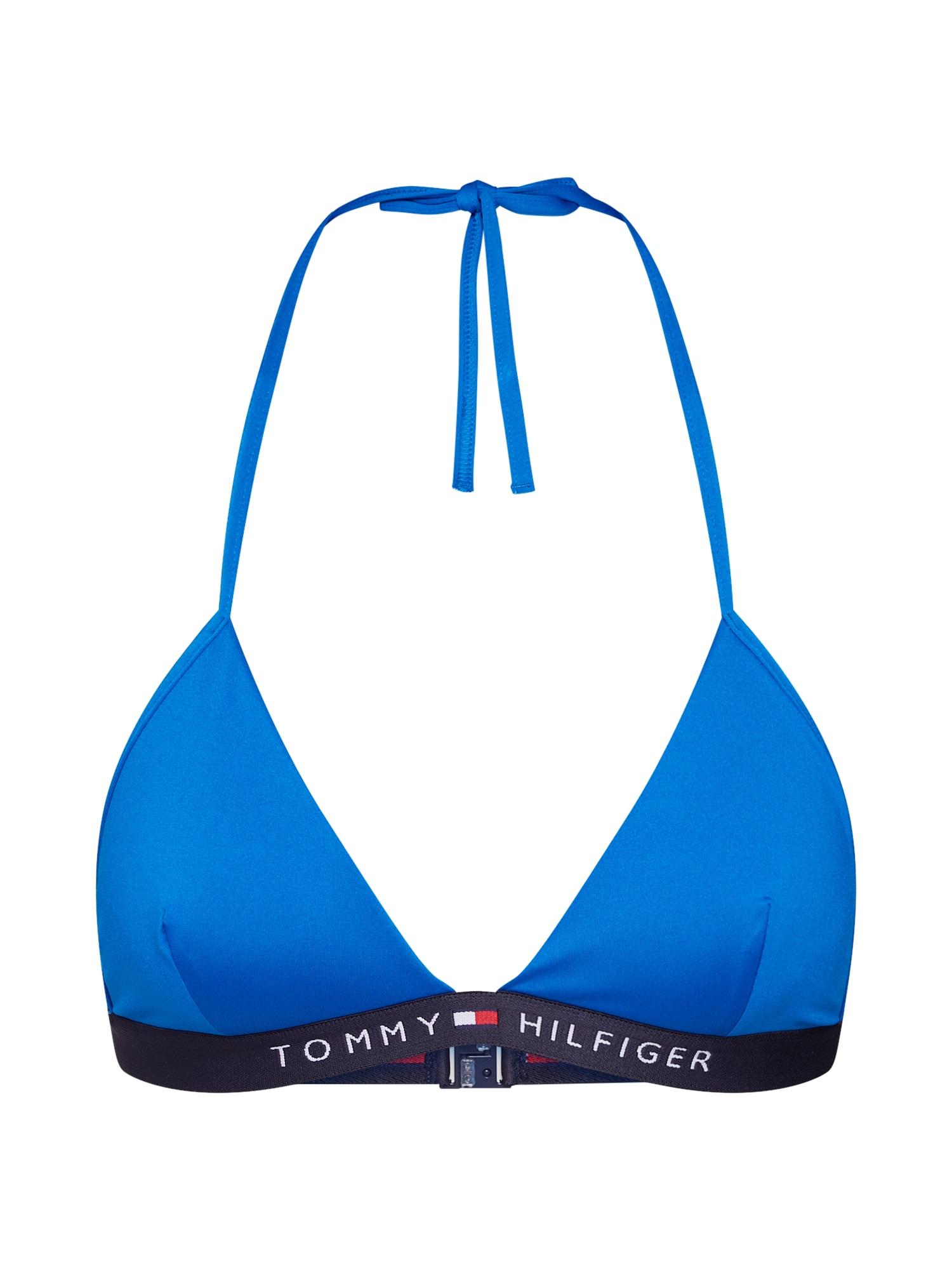 Horní díl plavek TRIANGLE FIXED modrá Tommy Hilfiger Underwear