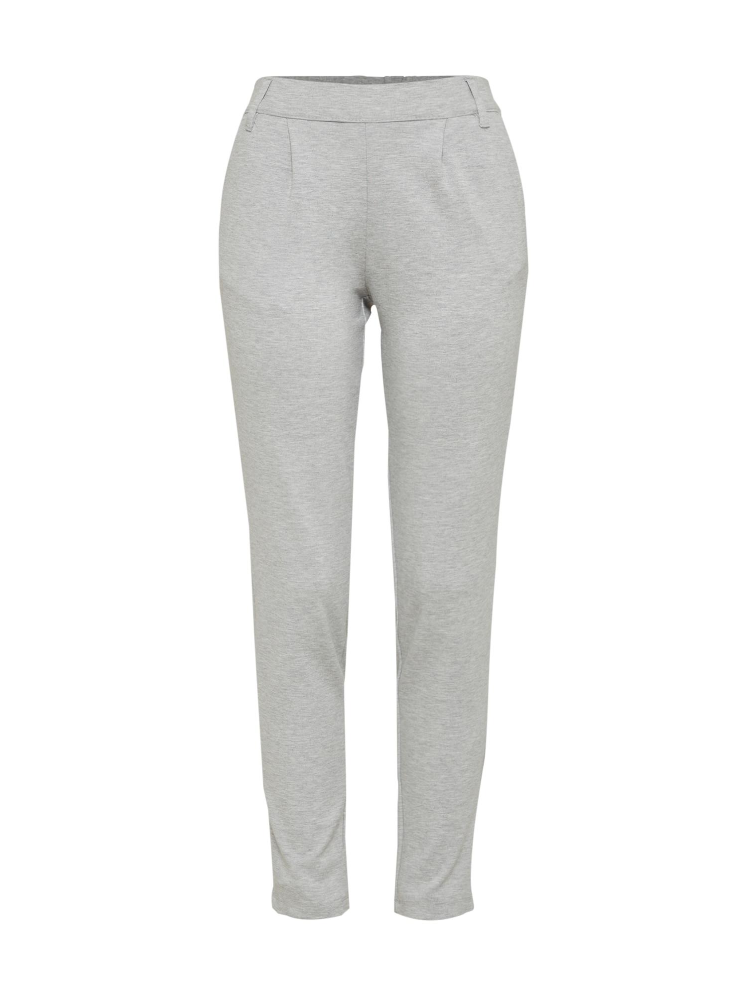 Kalhoty se sklady v pase Betty světle šedá JACQUELINE De YONG