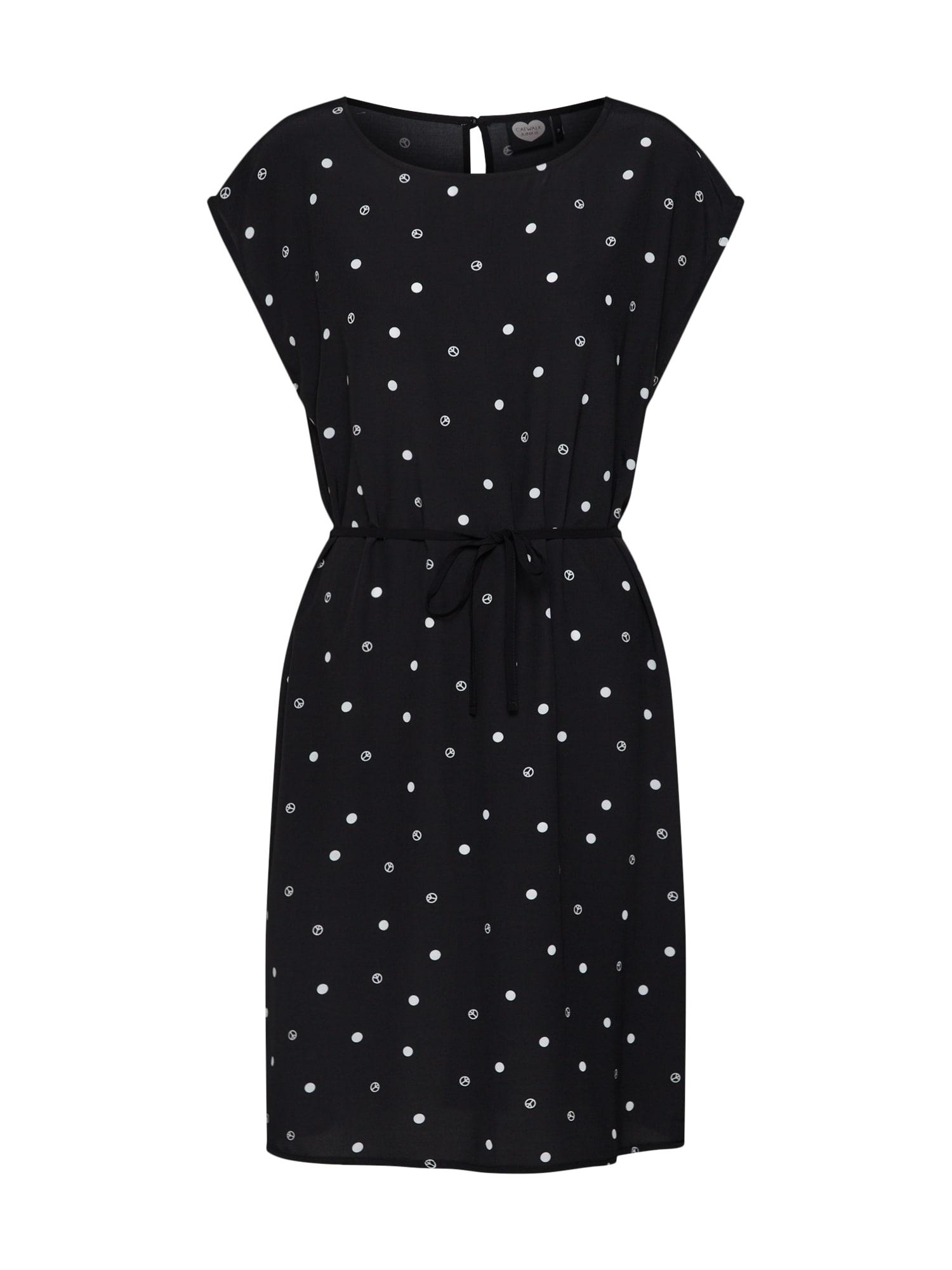 Letní šaty DR PEACE SPOTS černá bílá CATWALK JUNKIE