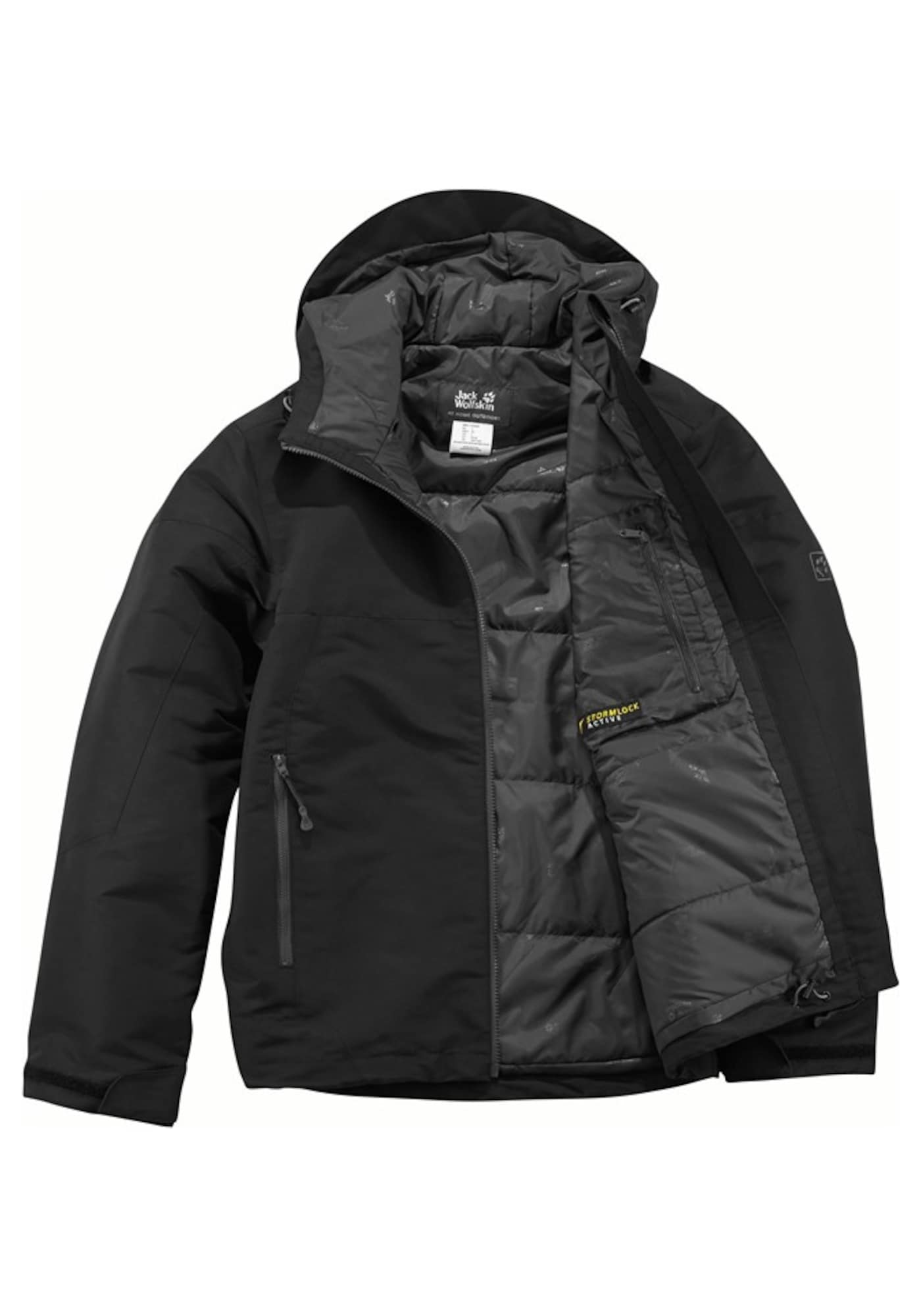 JACK WOLFSKIN, Heren Outdoorjas, antraciet