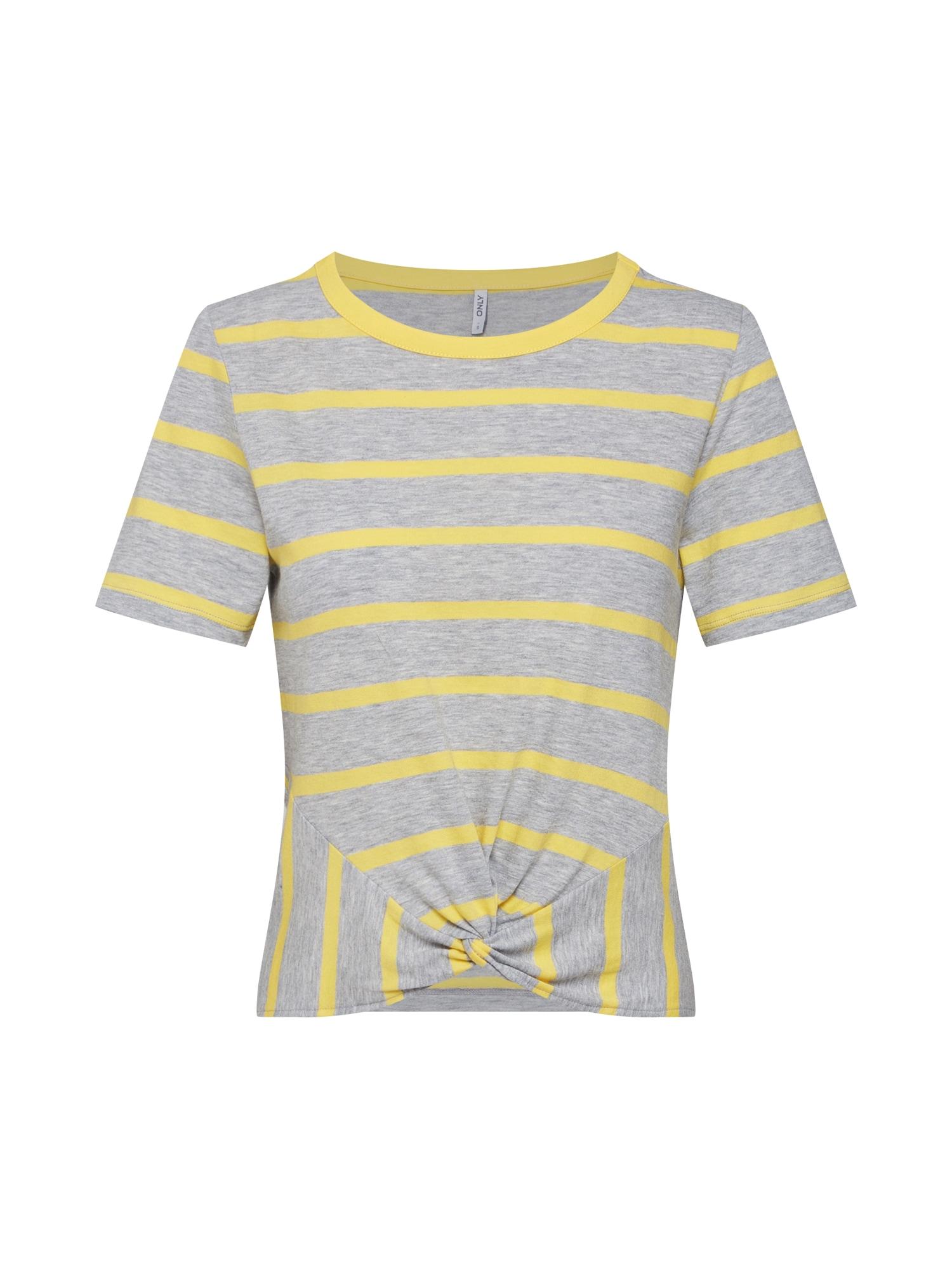 Tričko žlutá šedá ONLY