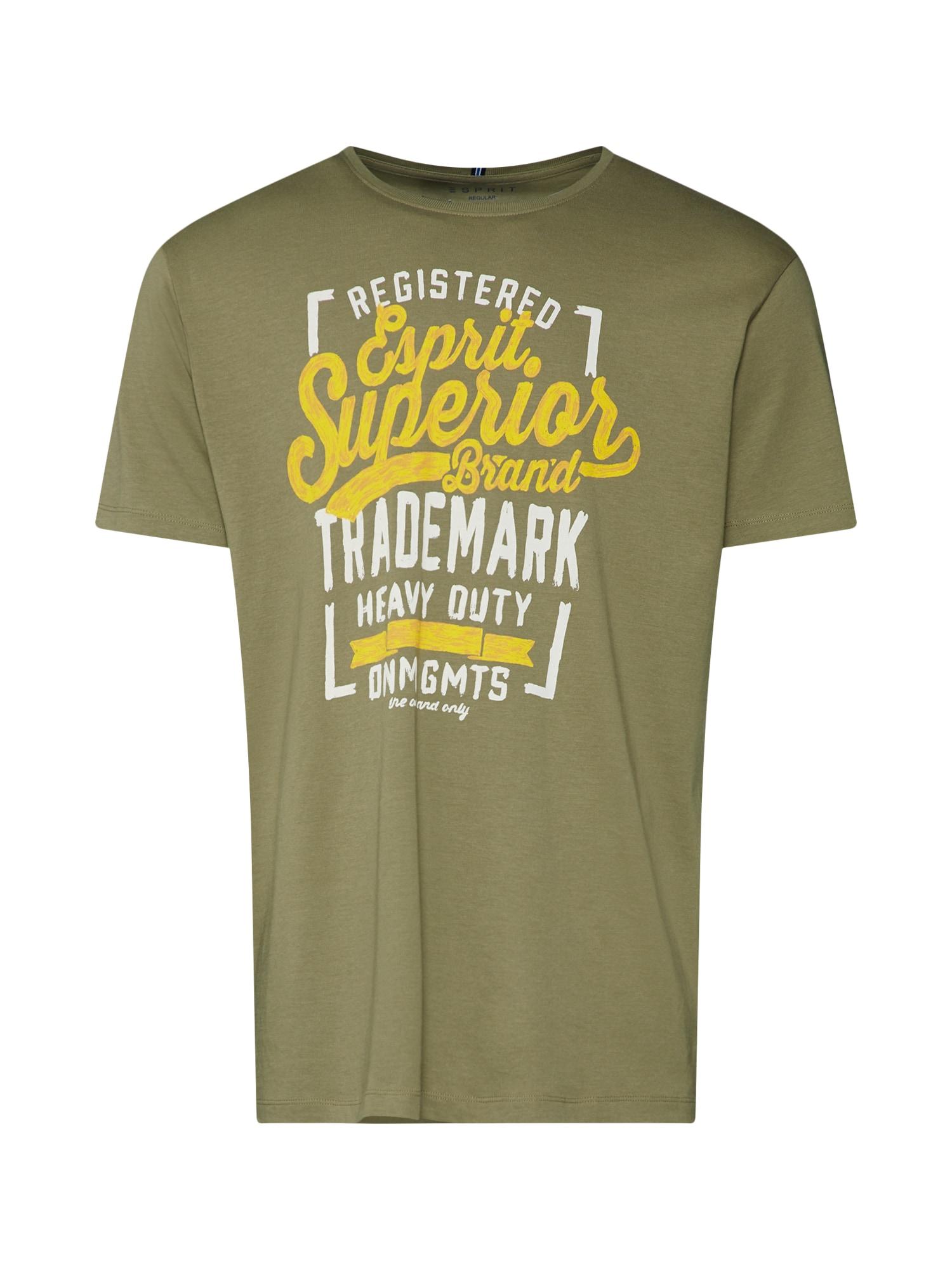 Tričko zlatě žlutá khaki ESPRIT