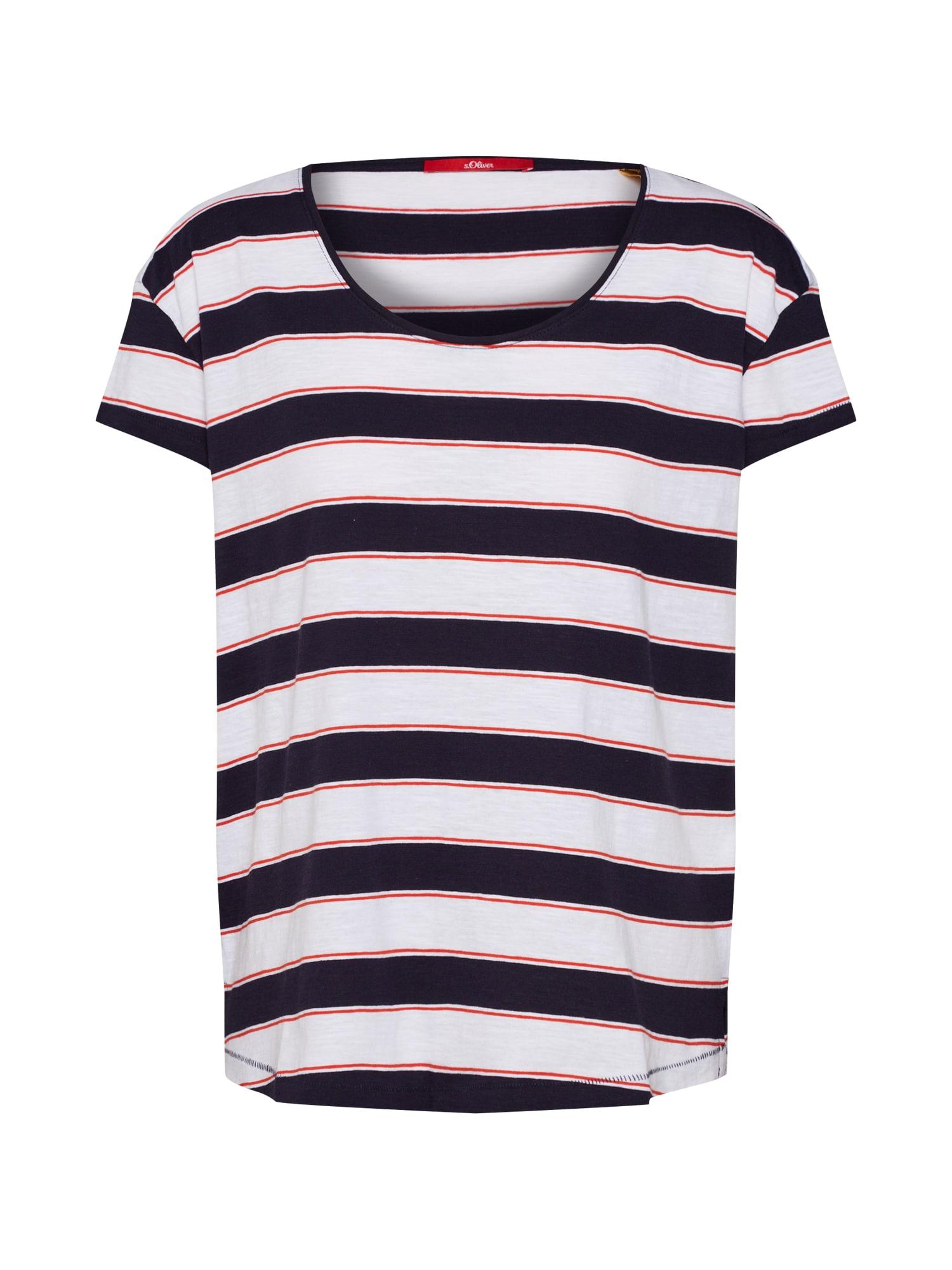 Tričko námořnická modř červená bílá S.Oliver RED LABEL