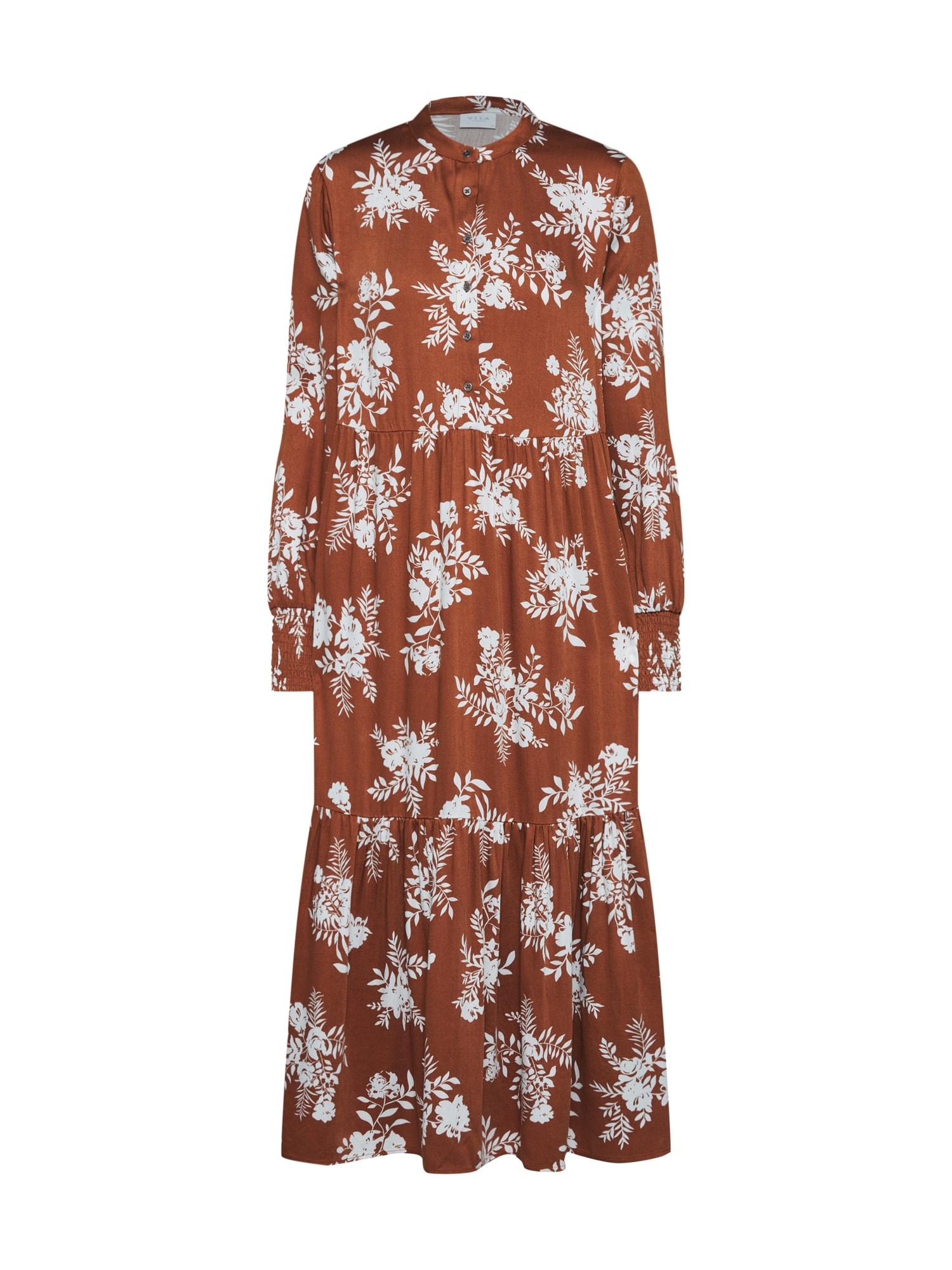 Letní šaty ERIS hnědá VILA