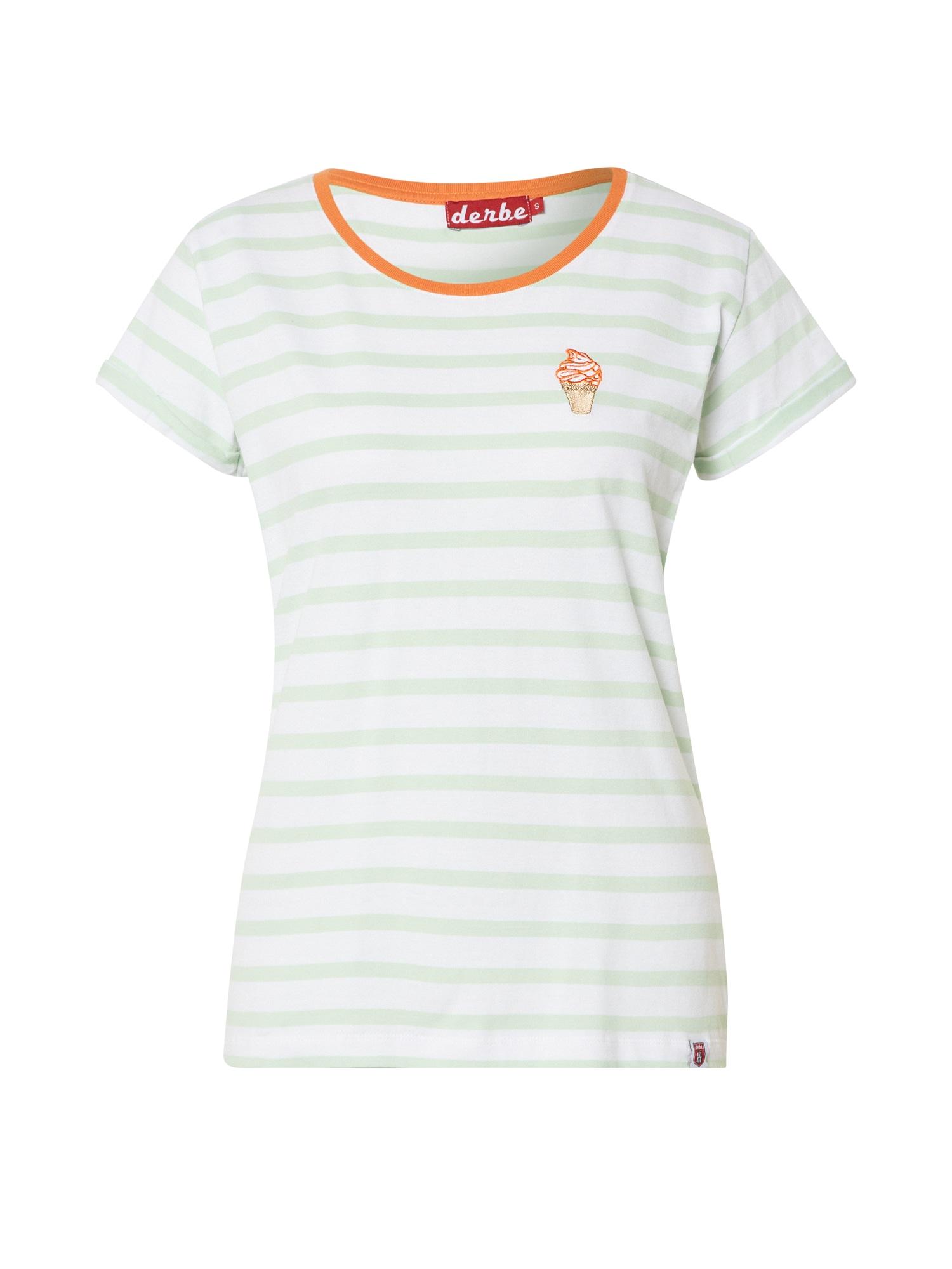 Derbe Tričko 'Ice'  oranžová / mátová / bílá