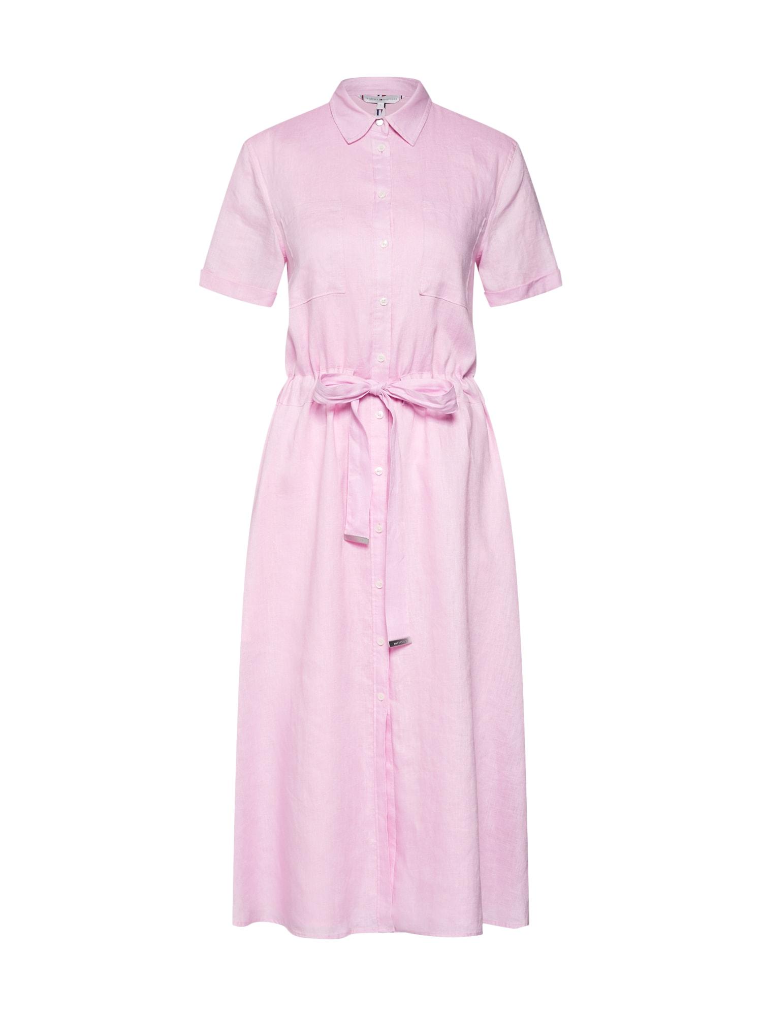 Košilové šaty Dakota růžová TOMMY HILFIGER