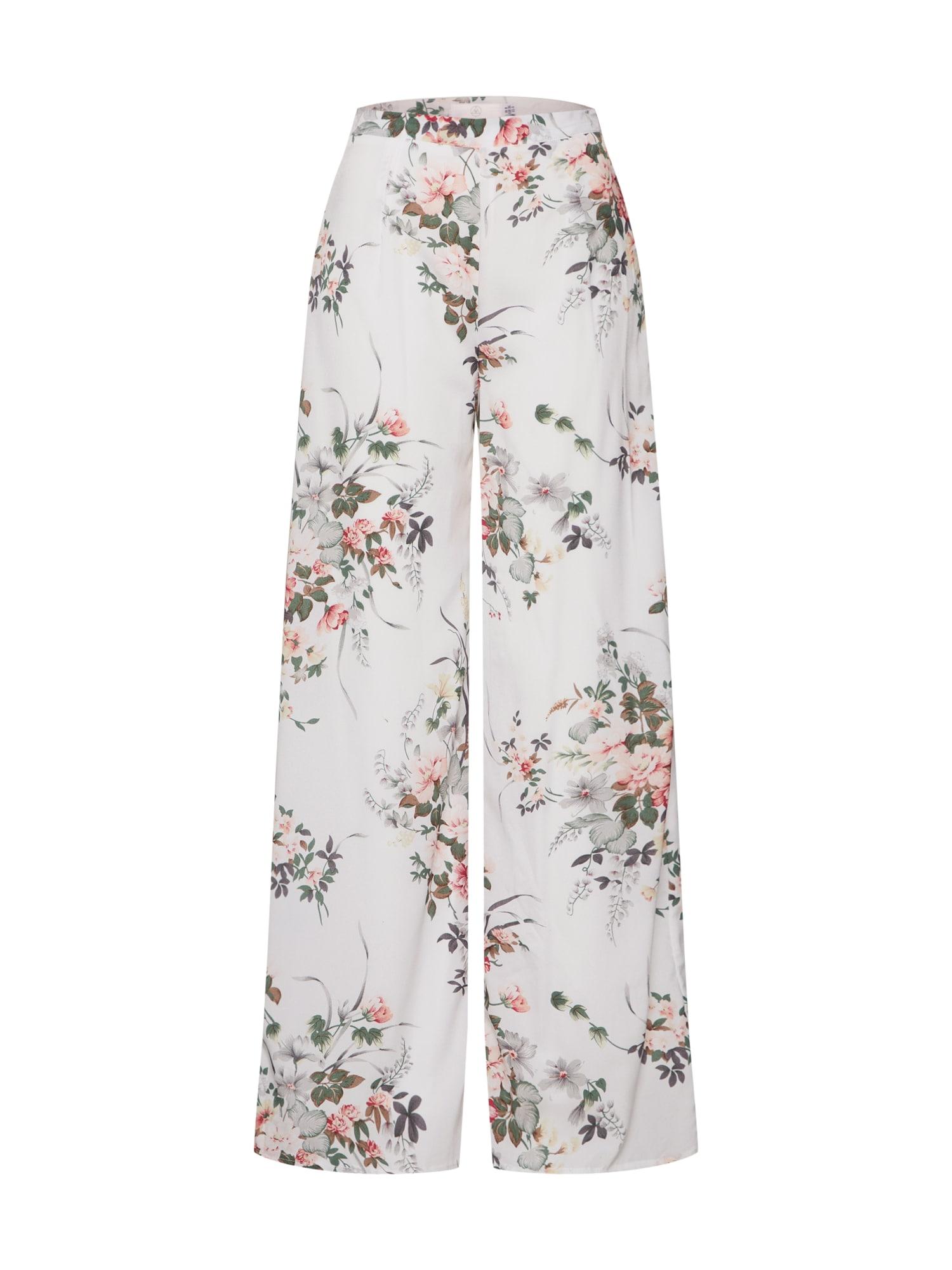 Kalhoty zelená růžová bílá Missguided