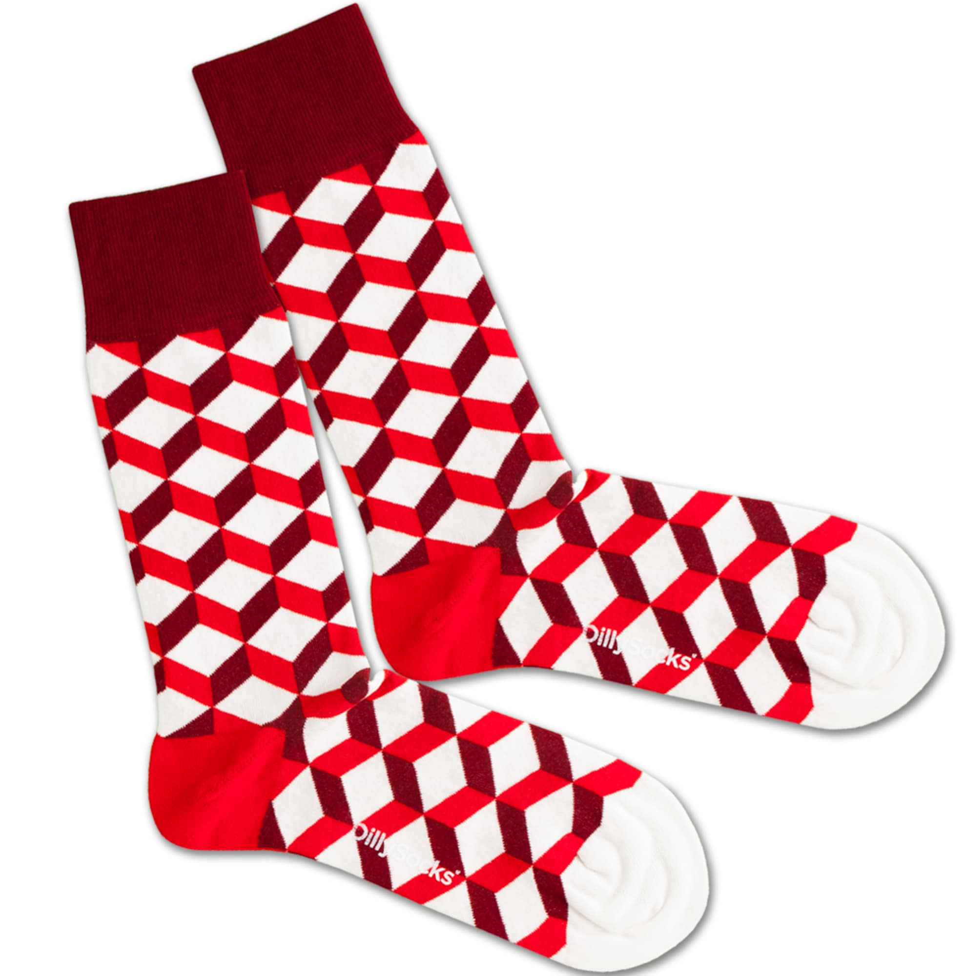 Ponožky Big Bloody Dice červená bílá DillySocks