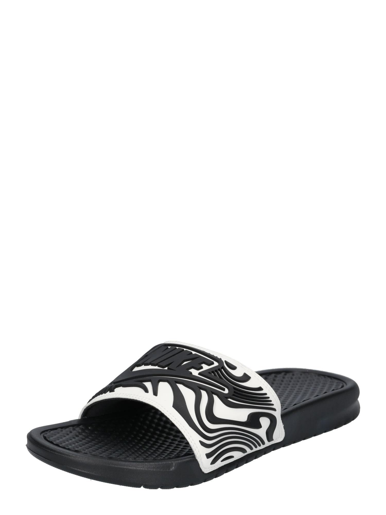 Nike Sportswear, Heren Strand-/badschoen 'BENASSI JDI SE', zwart / wit
