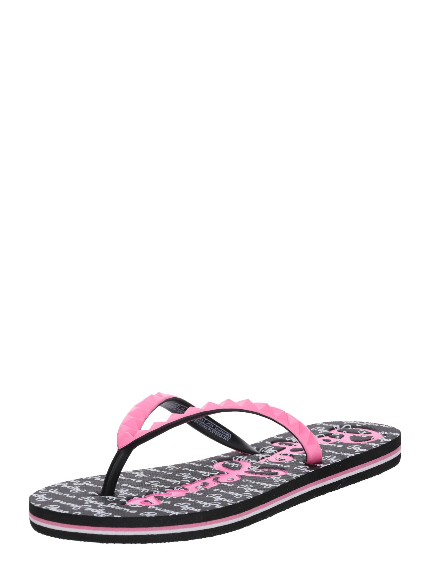 Pantofle RAKE LOGO pink černá Pepe Jeans