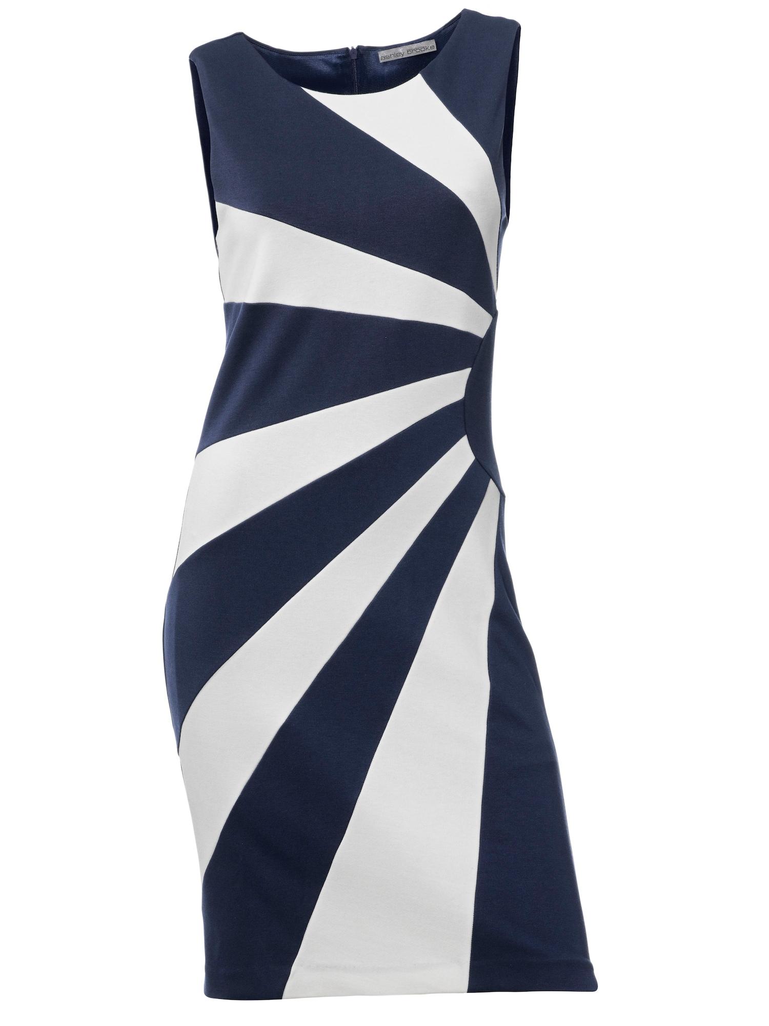 Pouzdrové šaty enciánová modrá bílá Heine
