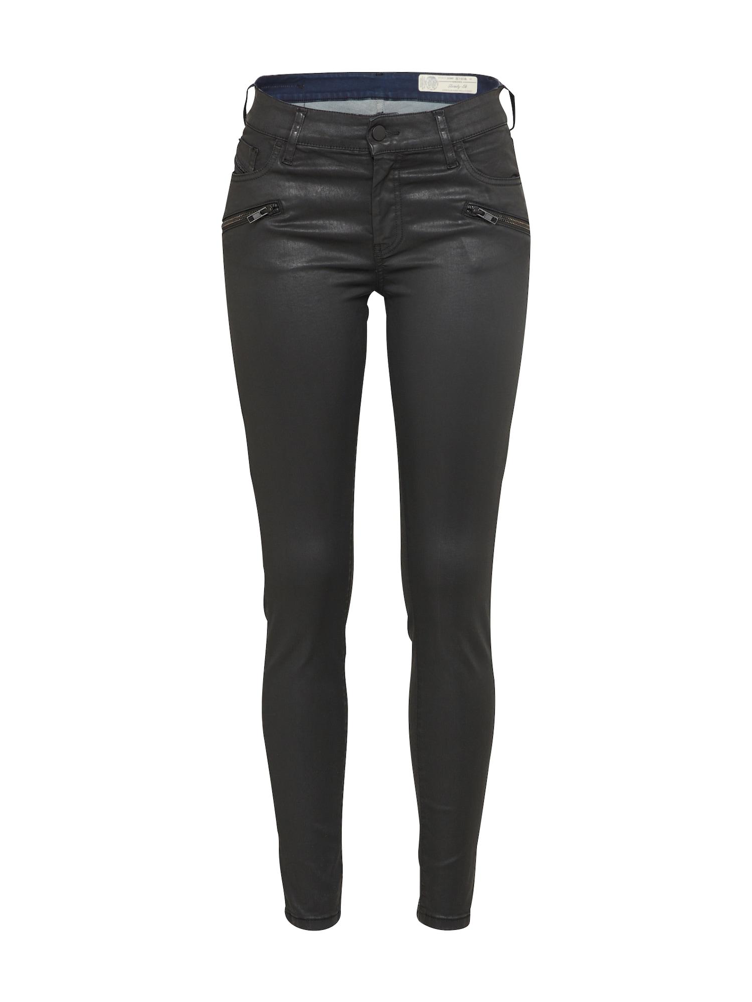 DIESEL Dames Jeans SLANDY-BK zwart