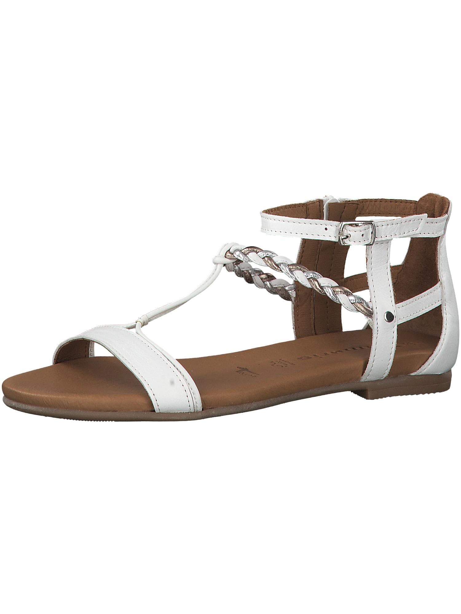 Páskové sandály bílá TAMARIS