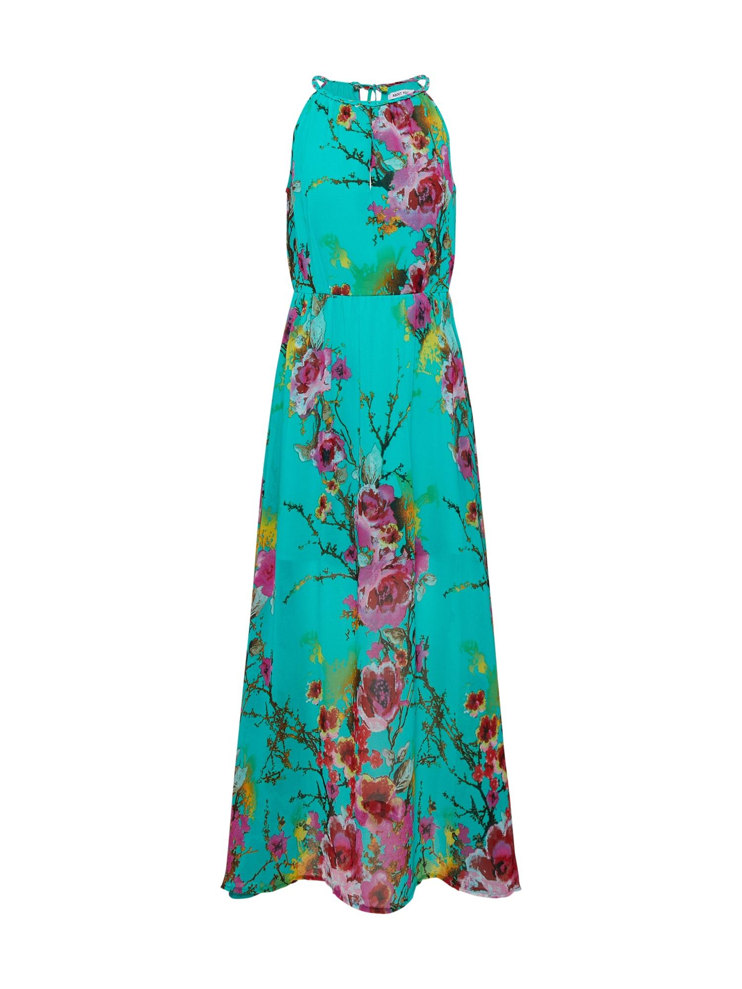 ABOUT YOU, Dames Zomerjurk 'Vincenza', turquoise / gemengde kleuren