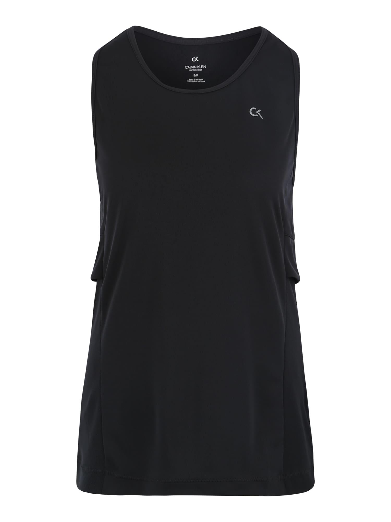 Sportovní top černá Calvin Klein Performance