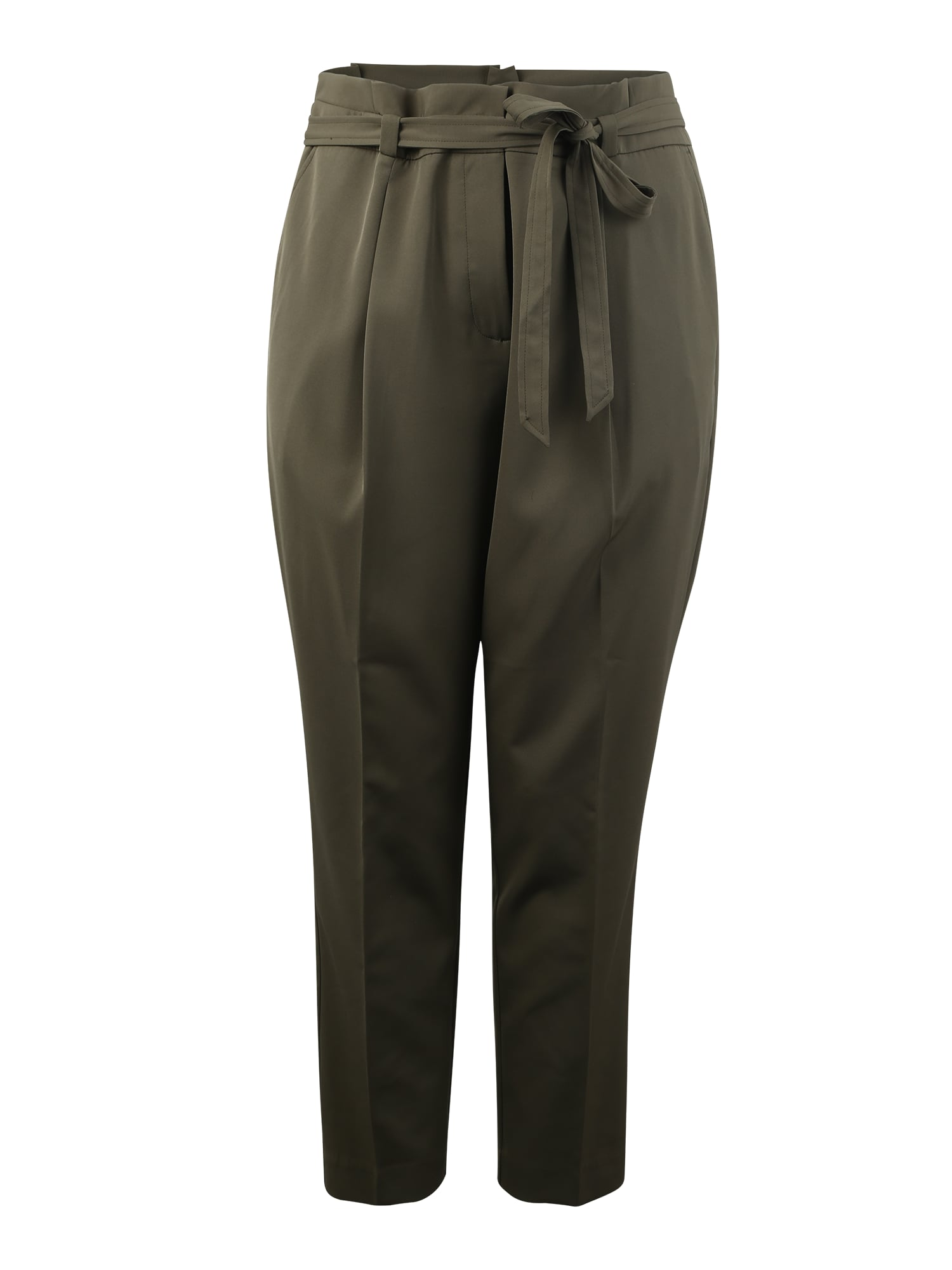 Kalhoty se sklady v pase MILLER  khaki New Look Curves
