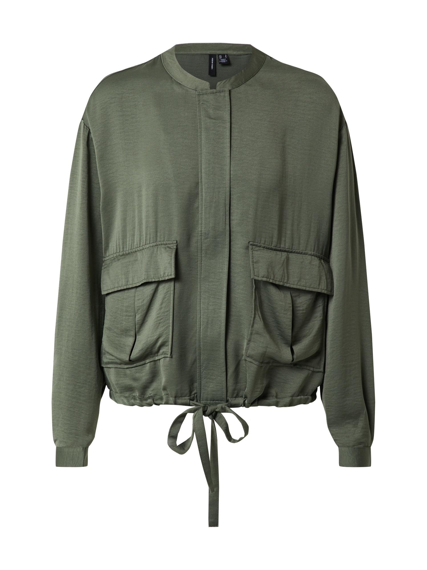 VERO MODA Přechodná bunda 'FREJA'  zelená