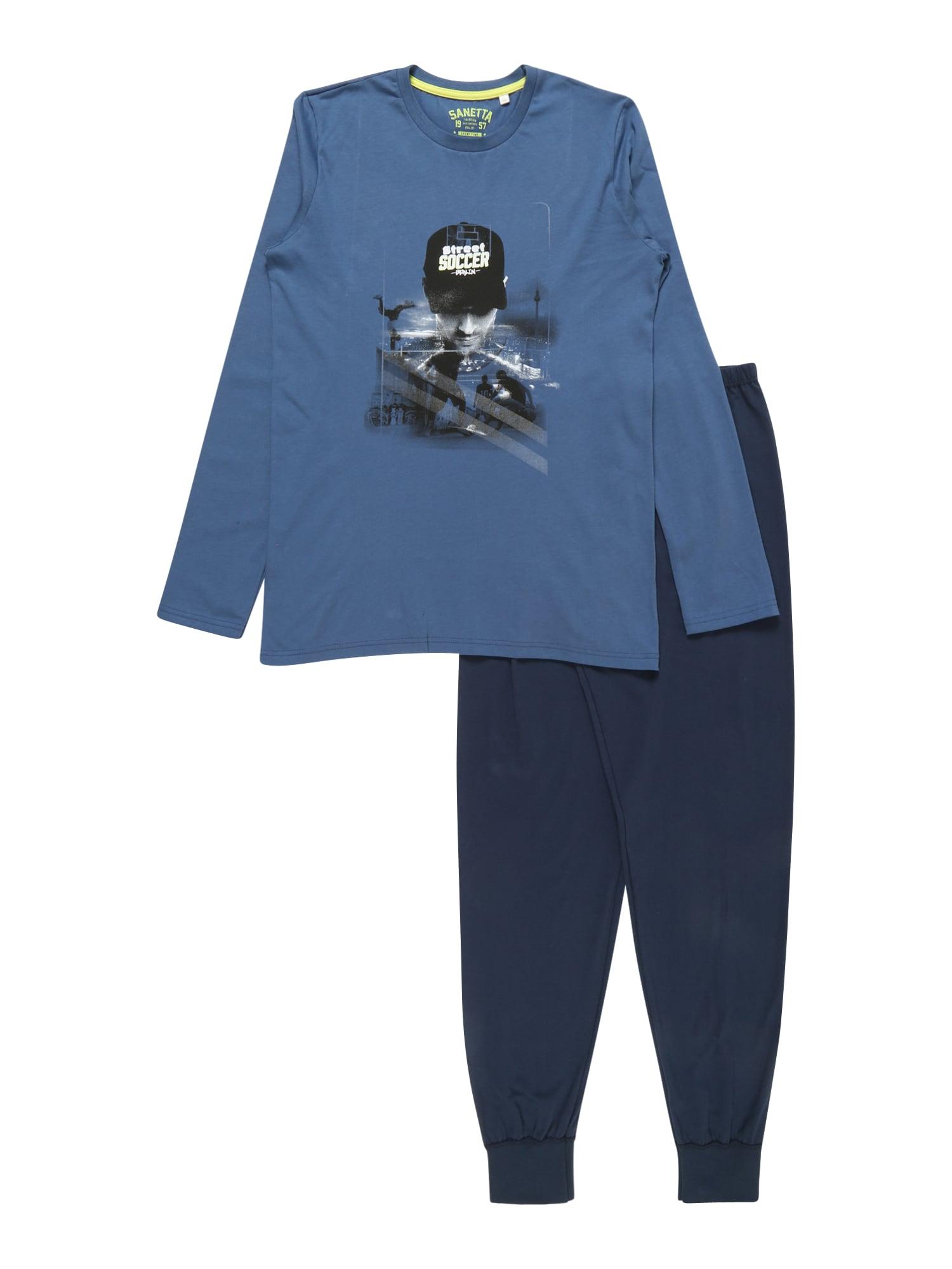Pyžamo modrá černá SANETTA